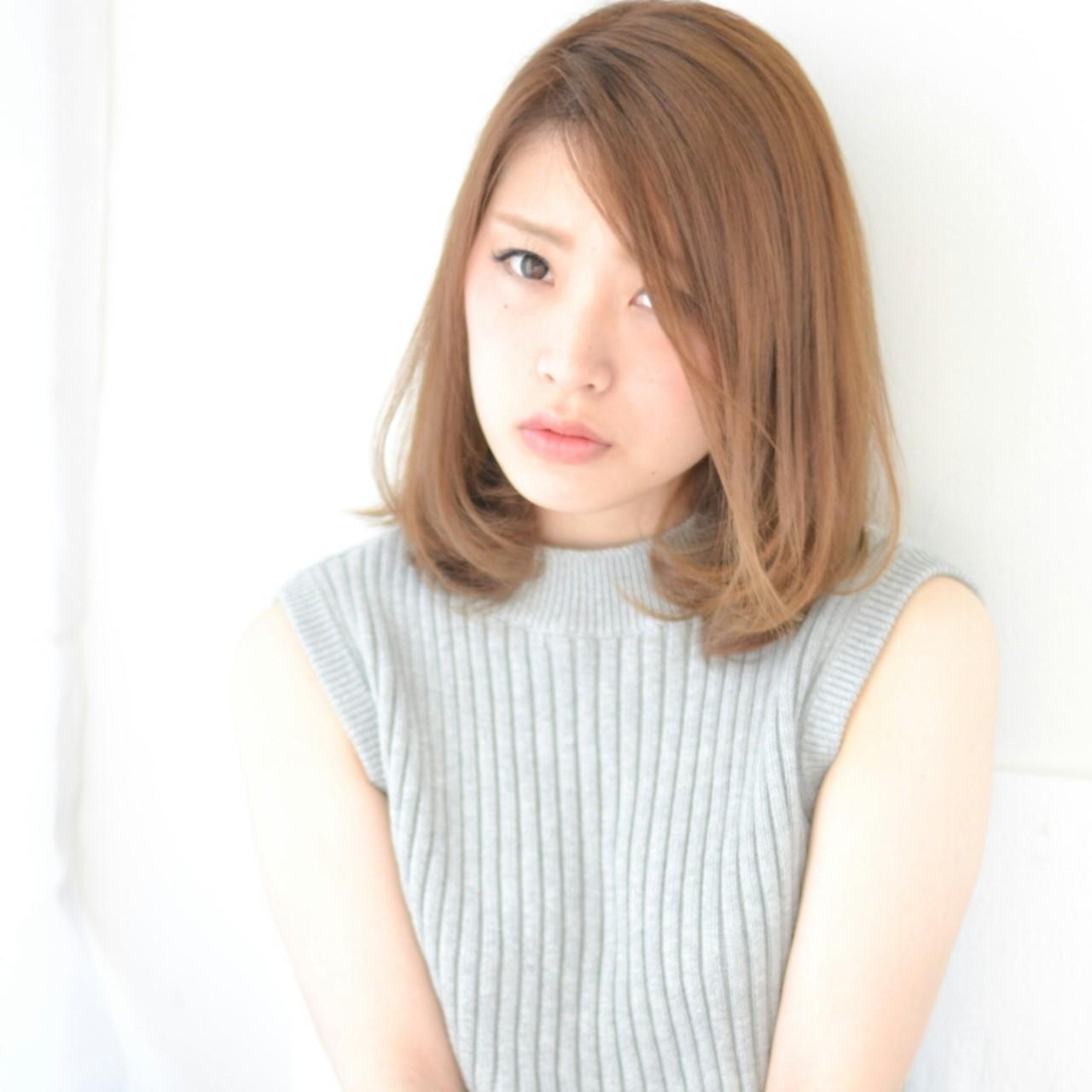 ストリート 大人かわいい ブラウン グレージュ ヘアスタイルや髪型の写真・画像 | Tsuru Shohei / ASIA(アジア)