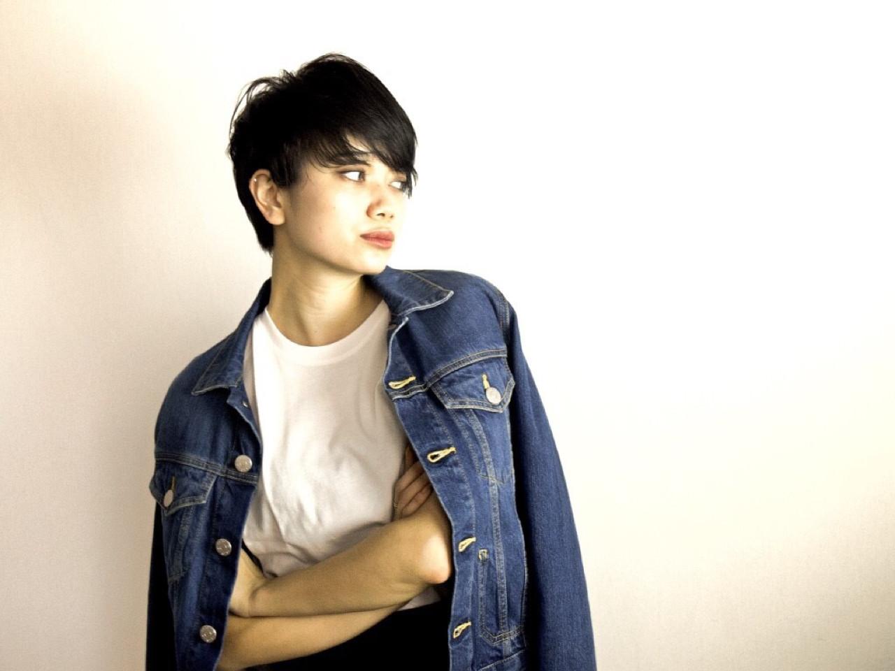 好印象美人になれる♪黒髪ショートのヘアスタイル集 小林 れいら/MAISON de IGGY