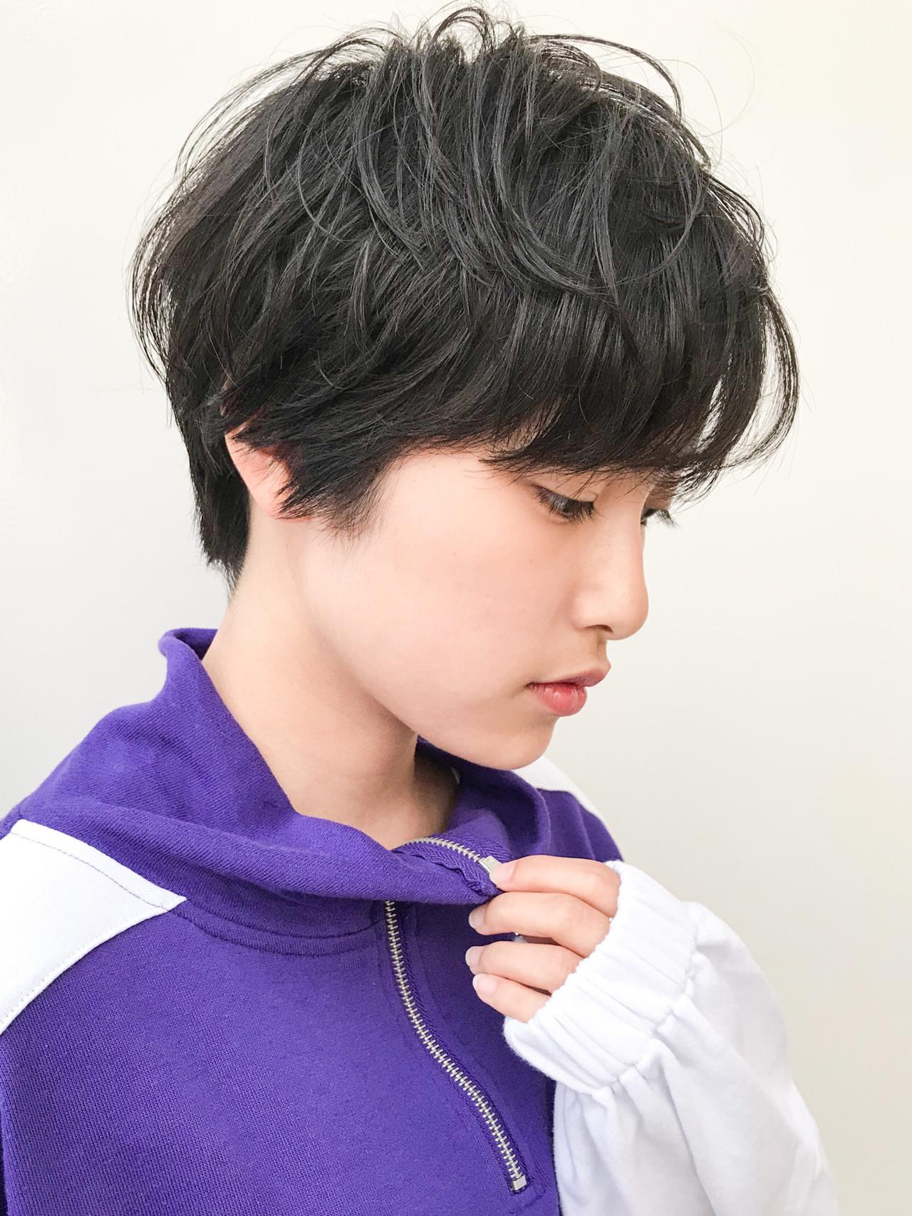 横顔美人 デート 黒髪 コンサバ ヘアスタイルや髪型の写真・画像 | HIROKI / roijir / roijir