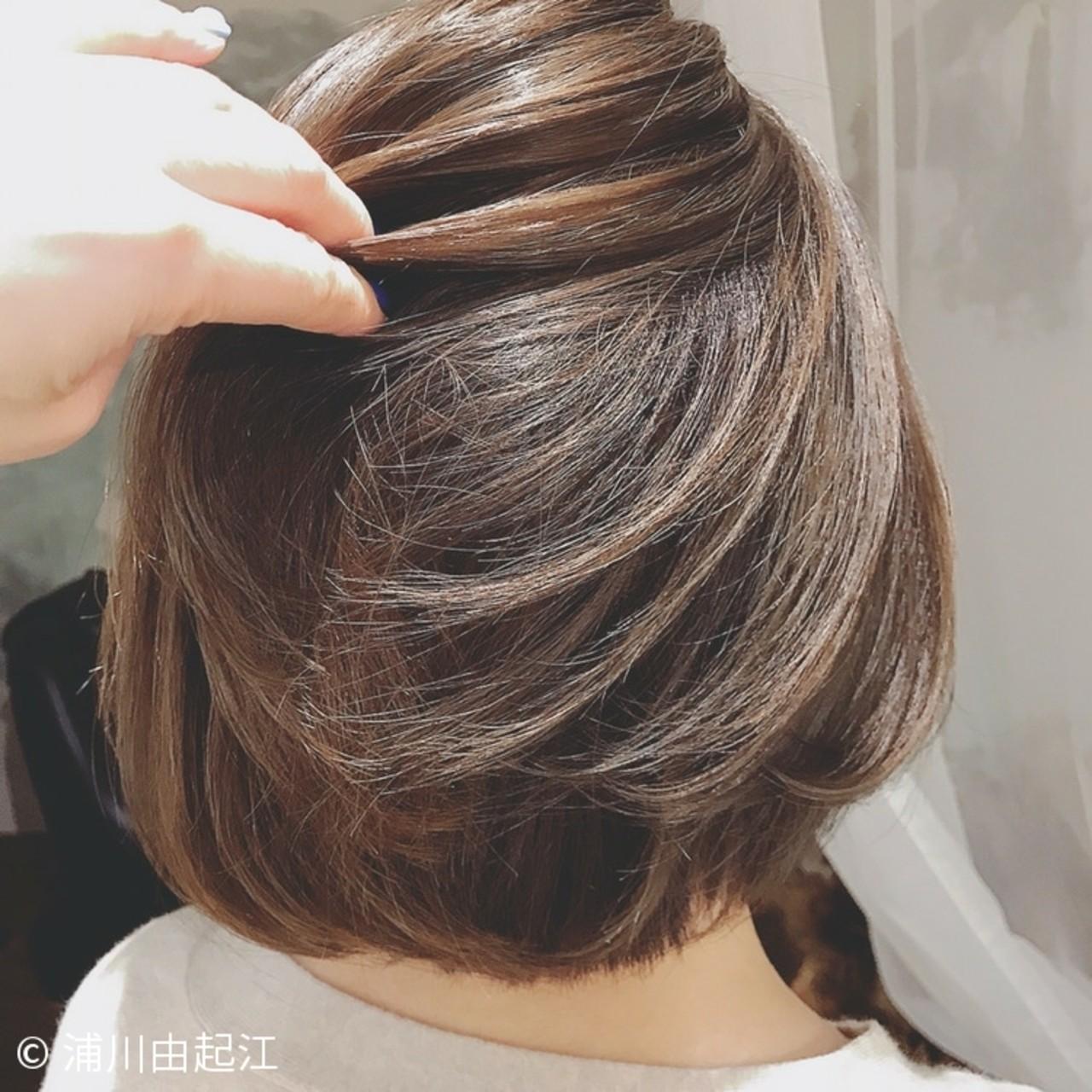 ボブ ナチュラル ゆるふわ グラデーションカラー ヘアスタイルや髪型の写真・画像 | 浦川由起江 / nanon