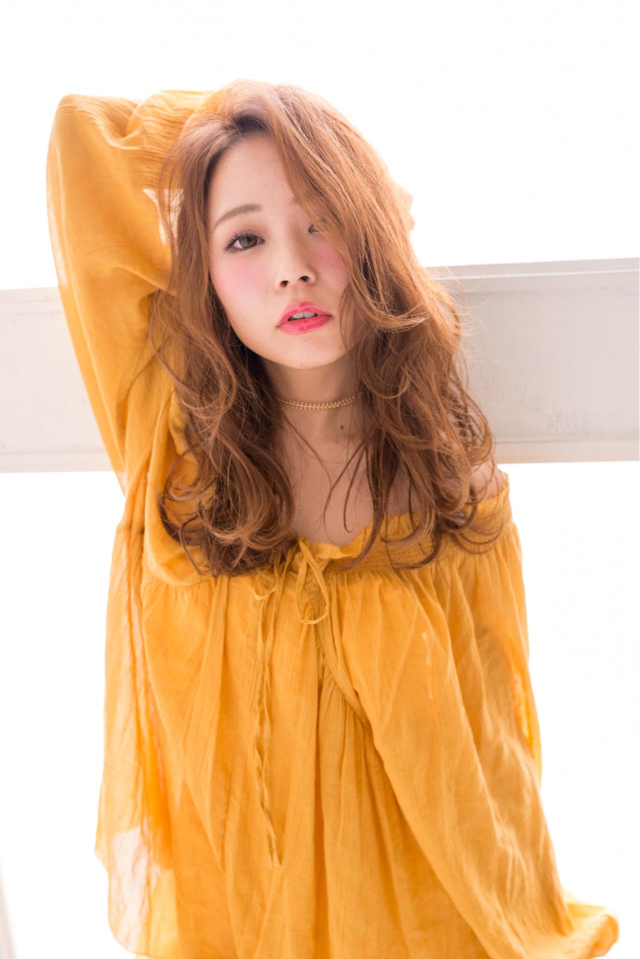 フェミニン 前髪あり パーマ ヘアアレンジ ヘアスタイルや髪型の写真・画像 | ken / le jardin attrait【アトレ】茅ヶ崎
