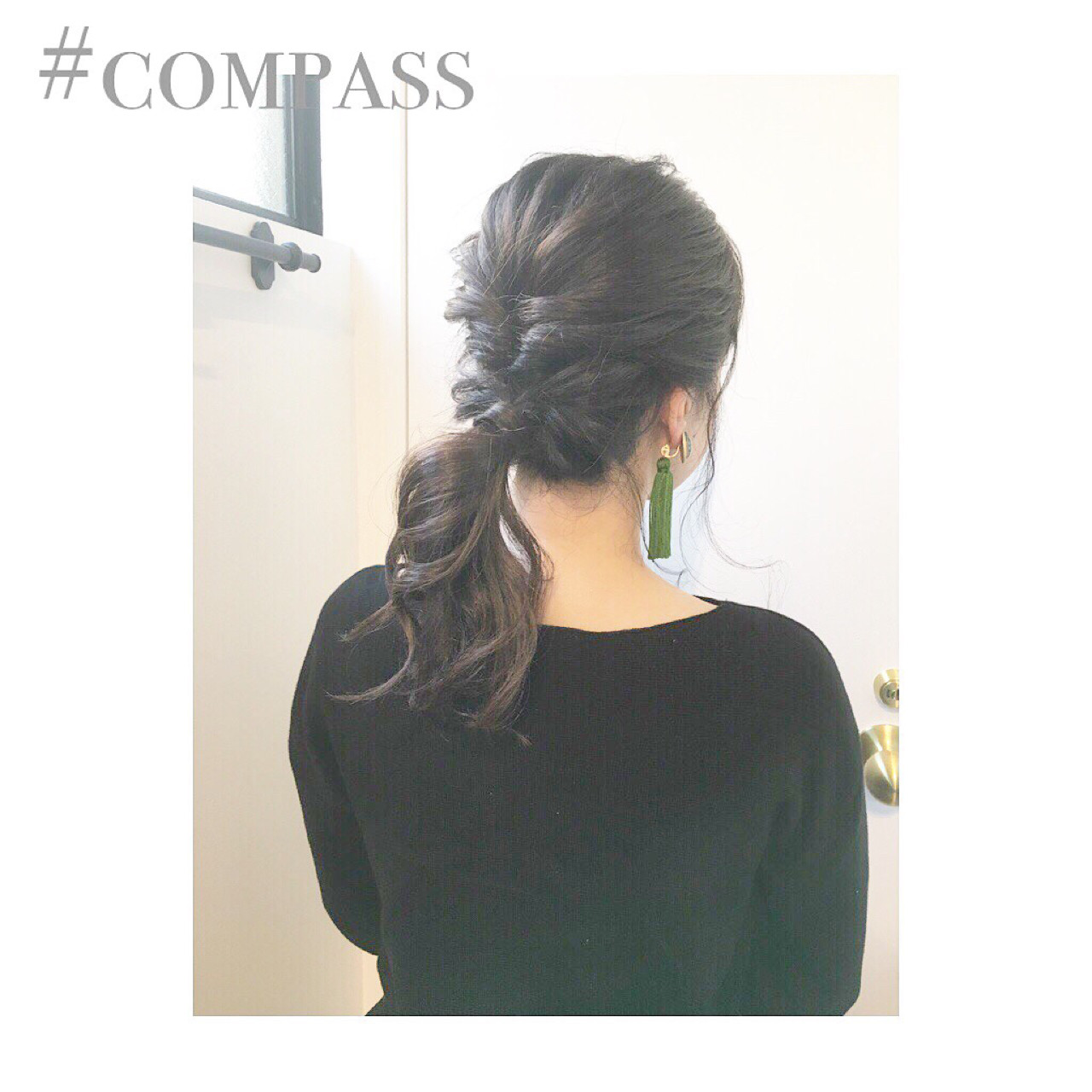 デート オフィス 結婚式 簡単ヘアアレンジ ヘアスタイルや髪型の写真・画像 | COM PASS 太一 / COM PASS
