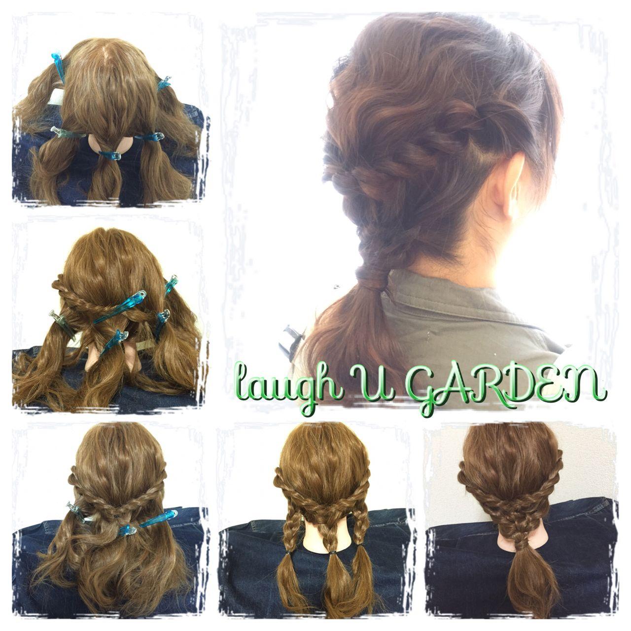 ゆるふわ 編み込み 大人かわいい ミディアムヘアスタイルや髪型の写真・画像