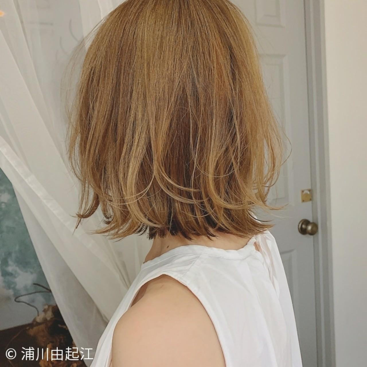 ボブ ハイライト エレガント 大人かわいいヘアスタイルや髪型の写真・画像
