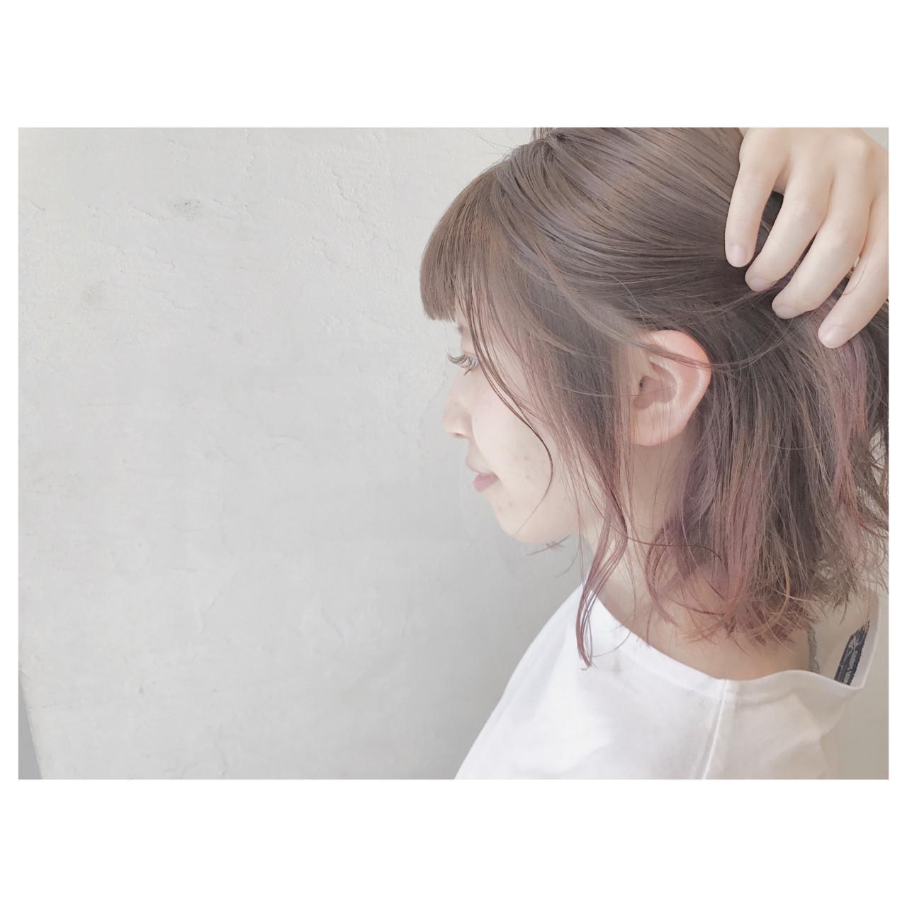 ウェーブ ストリート グラデーションカラー ボブ ヘアスタイルや髪型の写真・画像 | 落合 瞳 / freelance