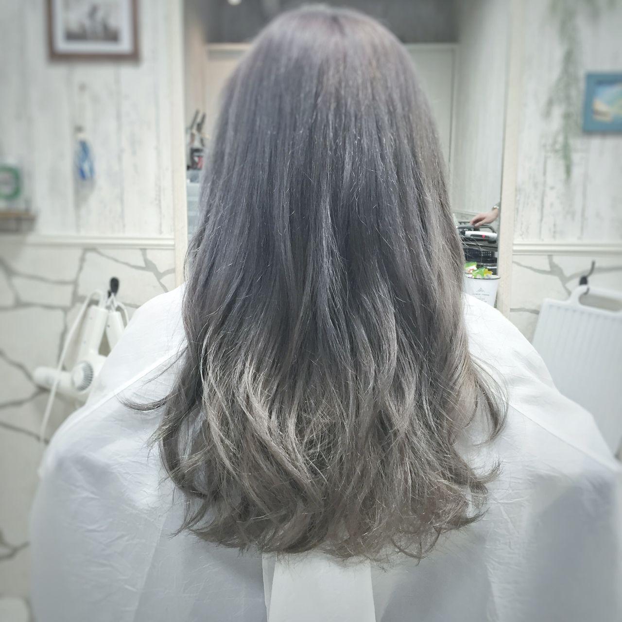 ブリー����実��アッシュグレー髪カタログ♪暗�・明る�自由