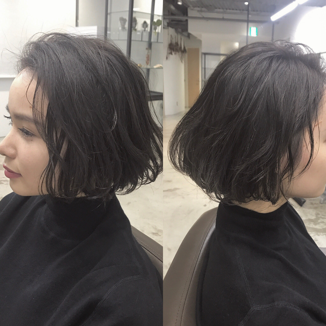 色気 ナチュラル 黒髪 ニュアンスヘアスタイルや髪型の写真・画像