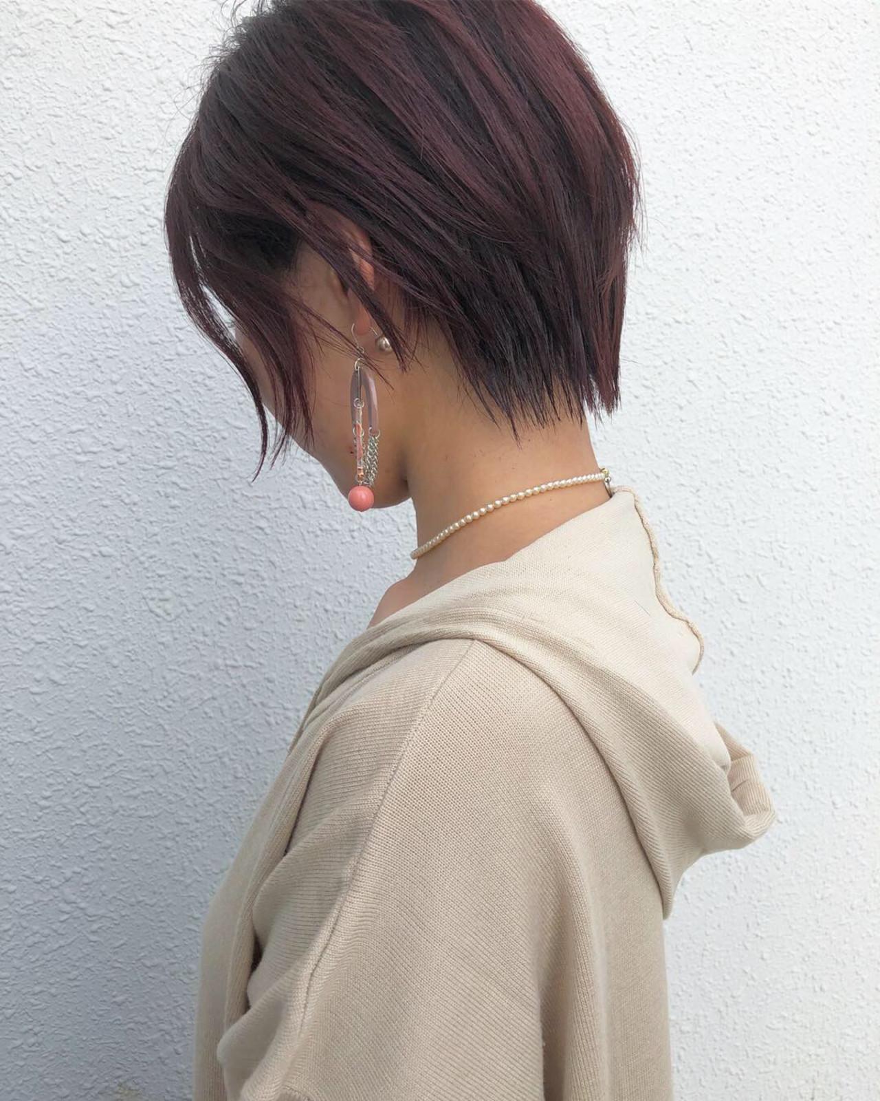 ナチュラル ボブ ショート 大人女子 ヘアスタイルや髪型の写真・画像 | ヒロナガ ツヨシ / Lull