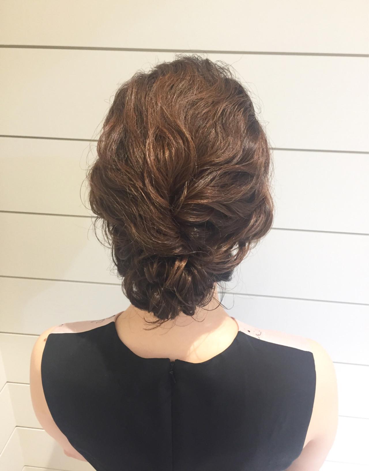 ヘアアレンジ 簡単ヘアアレンジ ミディアム 二次会ヘアスタイルや髪型の写真・画像
