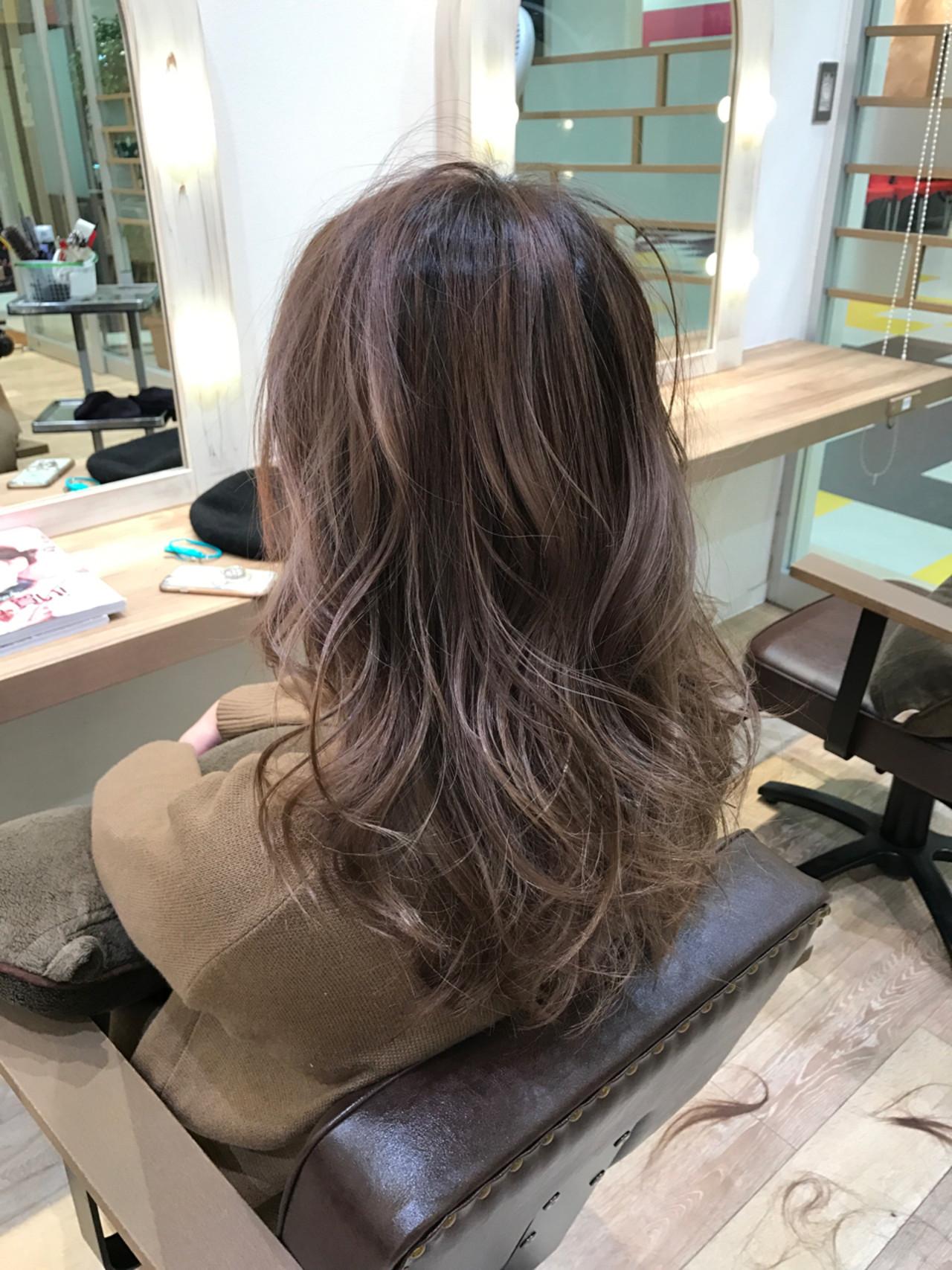 外国人風 ガーリー ロング グラデーションカラーヘアスタイルや髪型の写真・画像
