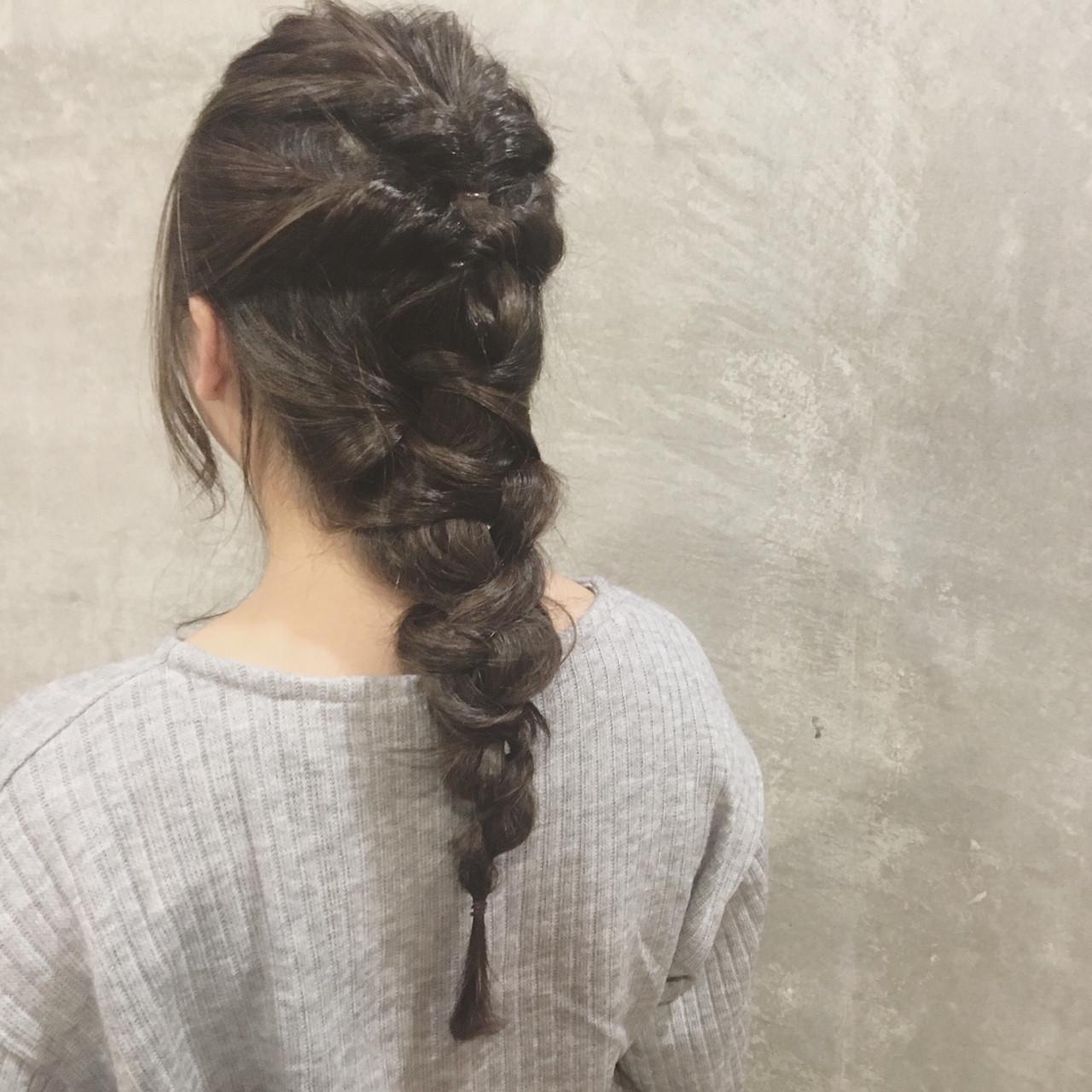 簡単ヘアアレンジ ヘアアレンジ ショート 編み込み ヘアスタイルや髪型の写真・画像 | Ayaco / One day