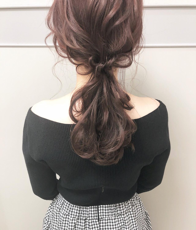 簡単ヘアアレンジ デート ヘアアレンジ ローポニー ヘアスタイルや髪型の写真・画像   hii.de@✂︎ / Maison de sisi