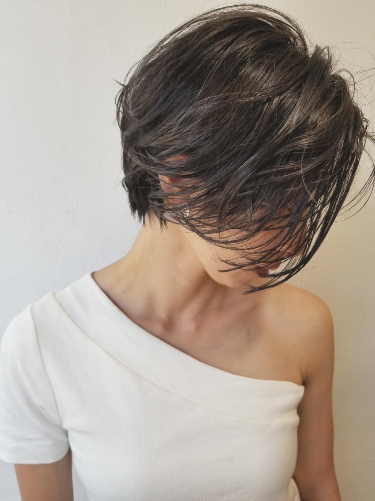 外国人風 デート ショート ハイライト ヘアスタイルや髪型の写真・画像 | 川田 義人 GREEK hairdesign / GREEK  hairdesign【グリーク】
