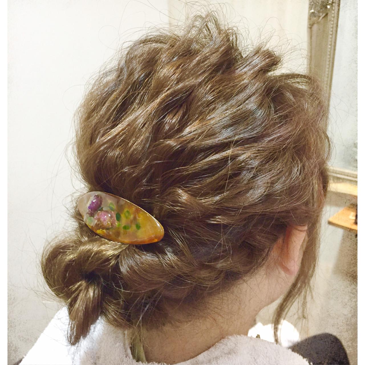 ゆるふわ セミロング 簡単ヘアアレンジ ショート ヘアスタイルや髪型の写真・画像 | 倉田 寛昭 / hair resort Lien