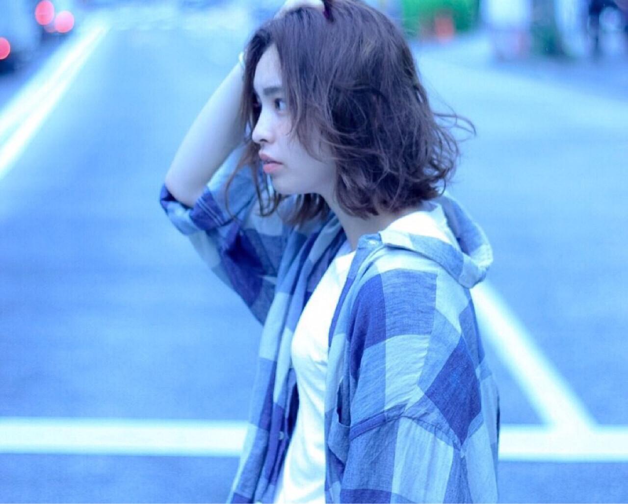 ゆるふわ 外国人風 外ハネ パーマ ヘアスタイルや髪型の写真・画像 | 冨永 真太郎 / 人トナリ