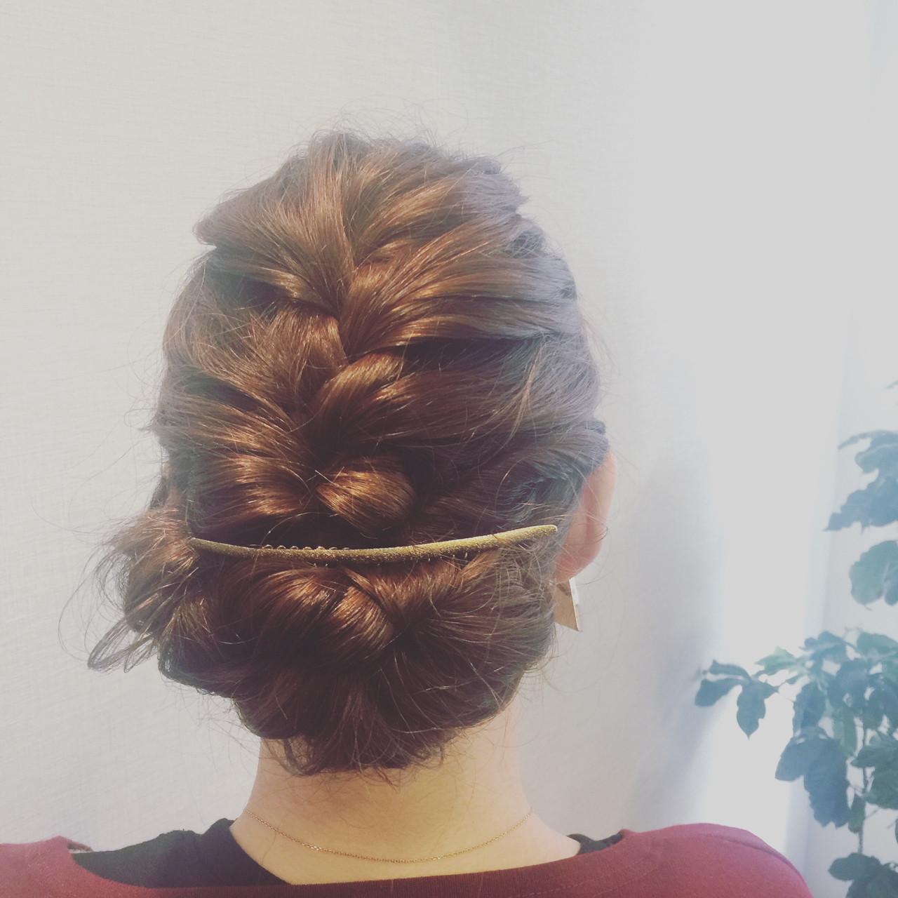 簡単ヘアアレンジ 大人かわいい 結婚式 ミディアム ヘアスタイルや髪型の写真・画像 | mika / anteprima