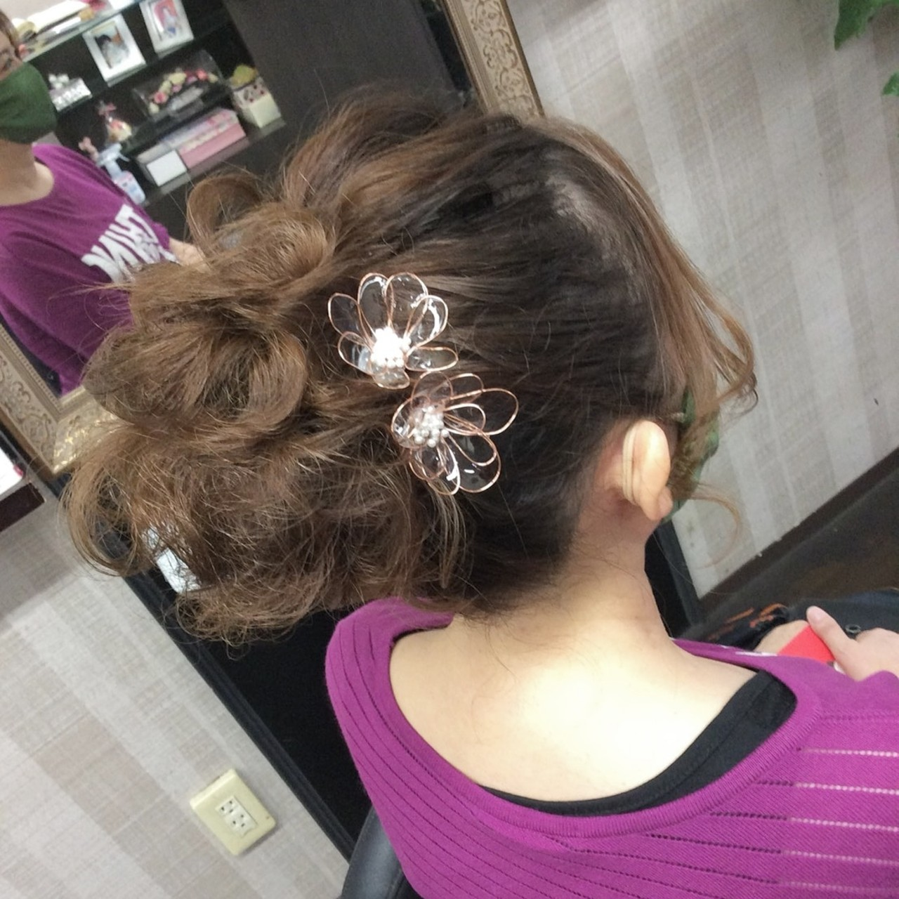 ヘアアレンジ ヘアアクセサリー ヘアアクセ ふわふわヘアアレンジヘアスタイルや髪型の写真・画像