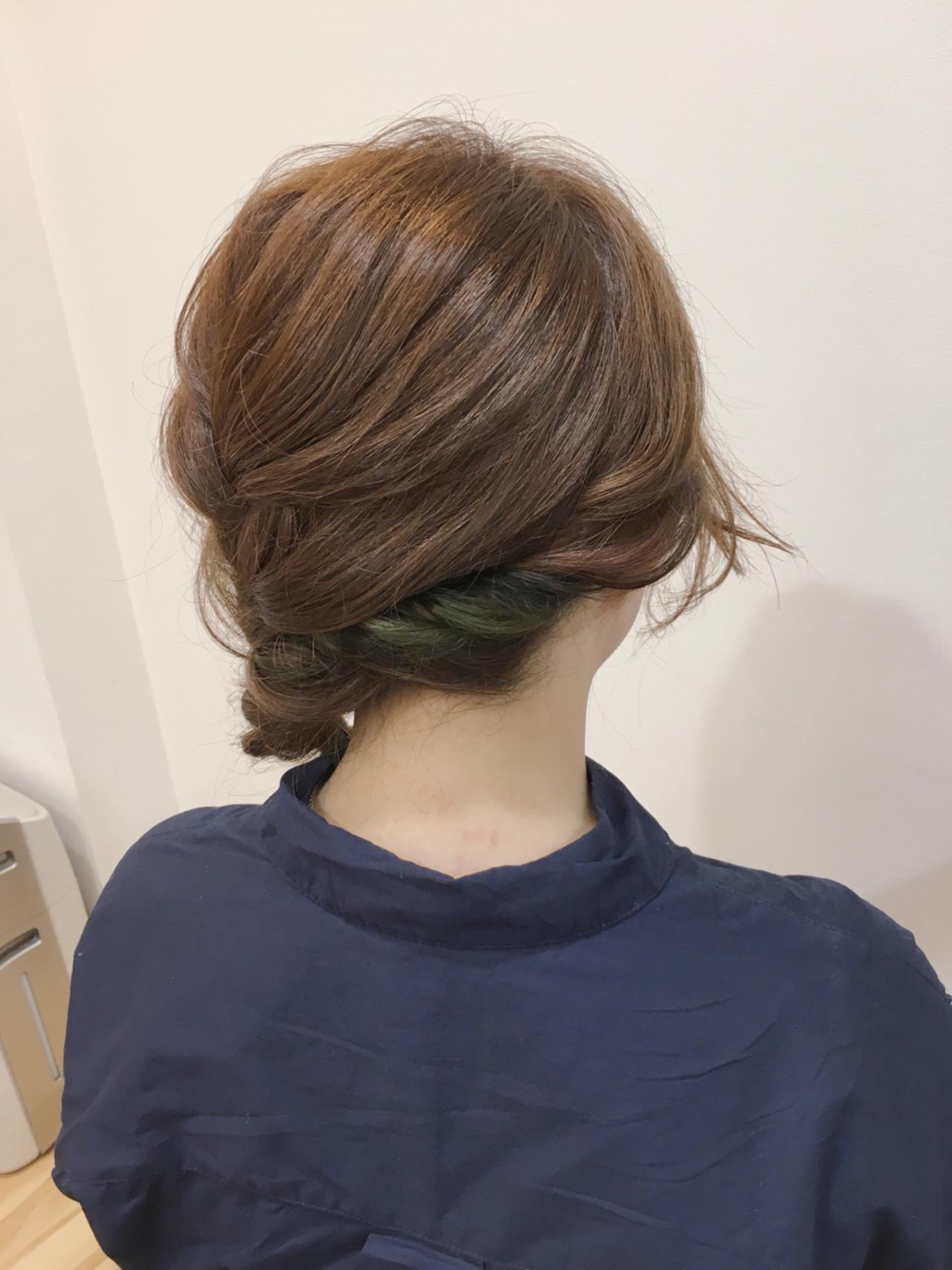 簡単ヘアアレンジ ショート 三つ編み ヘアアレンジ ヘアスタイルや髪型の写真・画像 | kirico/DADA / DADA