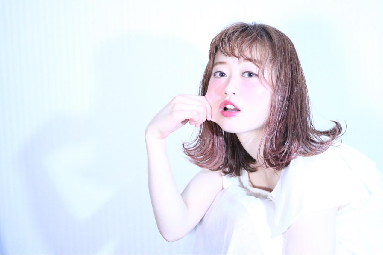 ガーリー ピュア ボブ グラデーションカラー ヘアスタイルや髪型の写真・画像 | 若命 敦之 / VANESSA