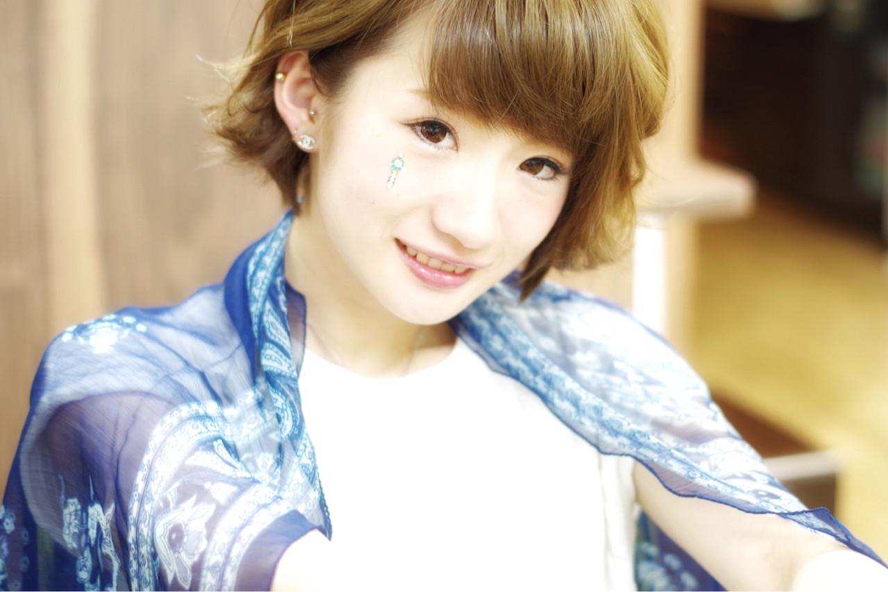 ナチュラル ワイドバング ショート ピュア ヘアスタイルや髪型の写真・画像 | 山本悠平 / hair salon nano