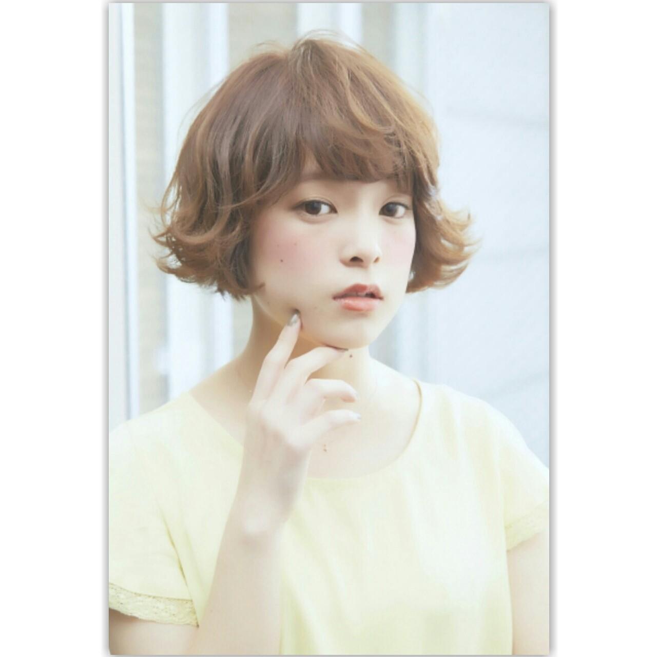 ナチュラル ゆるふわ 前髪あり パーマ ヘアスタイルや髪型の写真・画像 | MANAMI / free lance