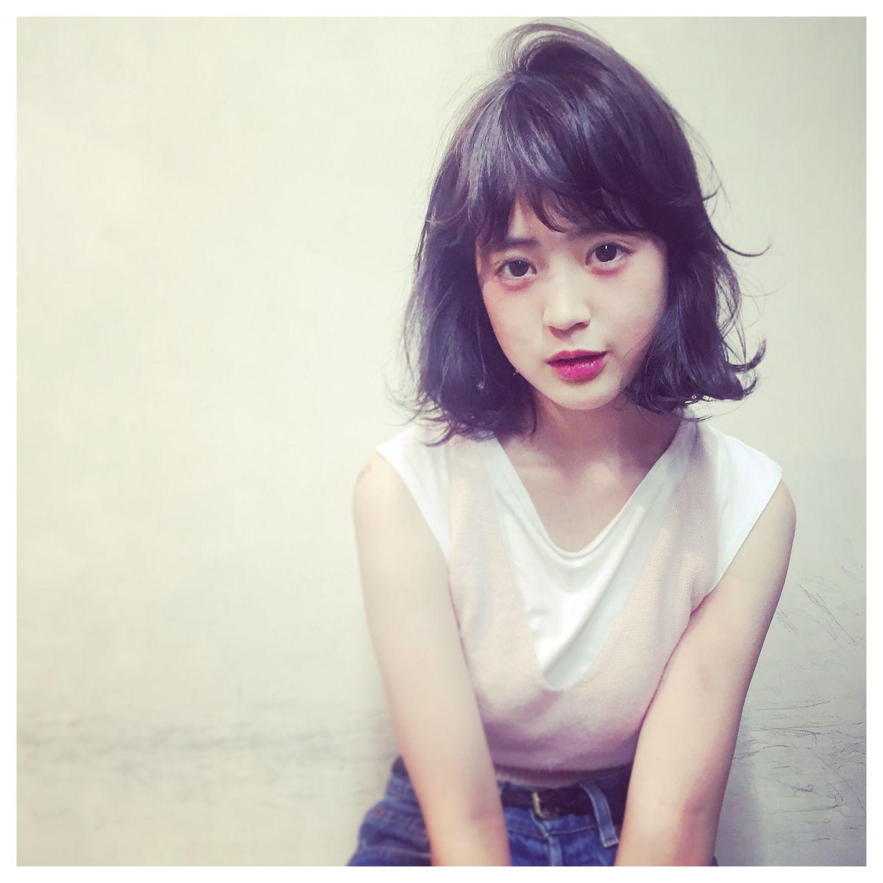 ゆるふわ モテ髪 ボブ ナチュラル ヘアスタイルや髪型の写真・画像 | 米澤 香央里 / SYAN