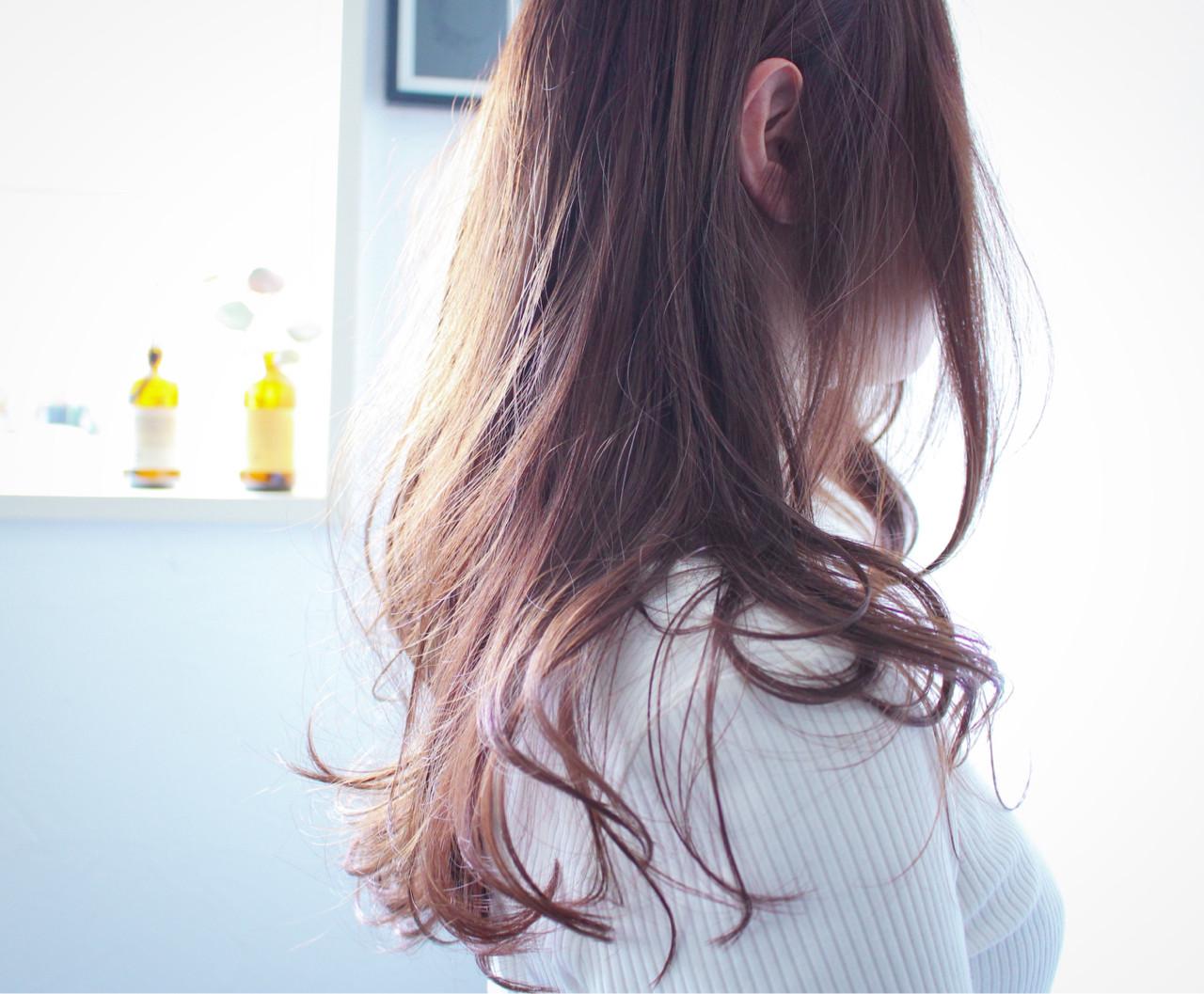 ロング ラベンダーアッシュ ラベンダー ナチュラル ヘアスタイルや髪型の写真・画像 | creap / creap