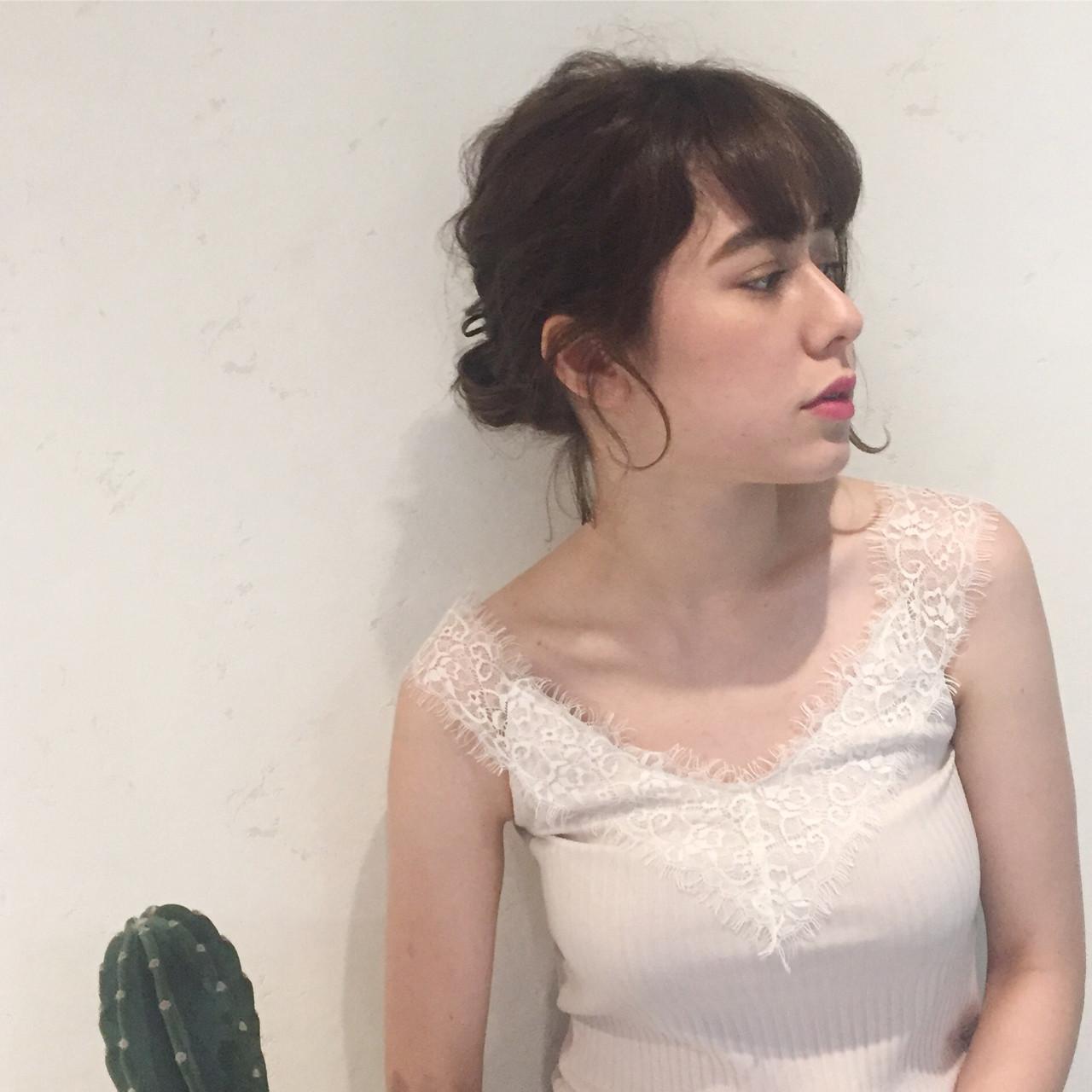 リラックス 梅雨 ヘアアレンジ 簡単ヘアアレンジ ヘアスタイルや髪型の写真・画像 | Misaki Arima / Hammock hair salon cocona