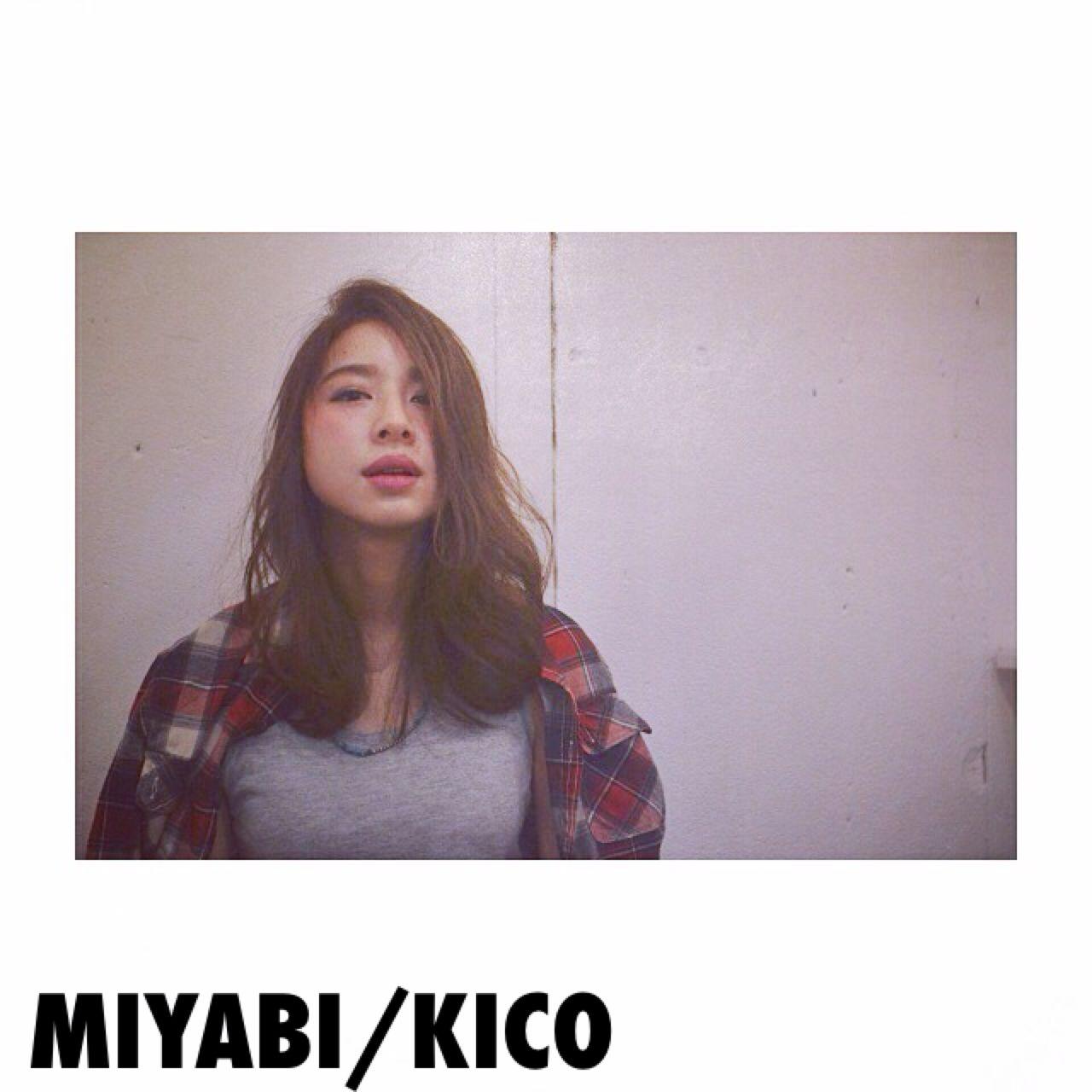ストリート センターパート ウェットヘア ショート ヘアスタイルや髪型の写真・画像   Miyabi/kico / MYBY