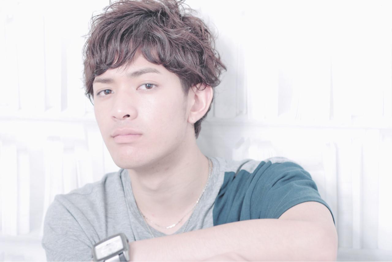 ショート アッシュ パーマ 黒髪 ヘアスタイルや髪型の写真・画像 | TAKAHITO / HAIR DERA'S (デラ)