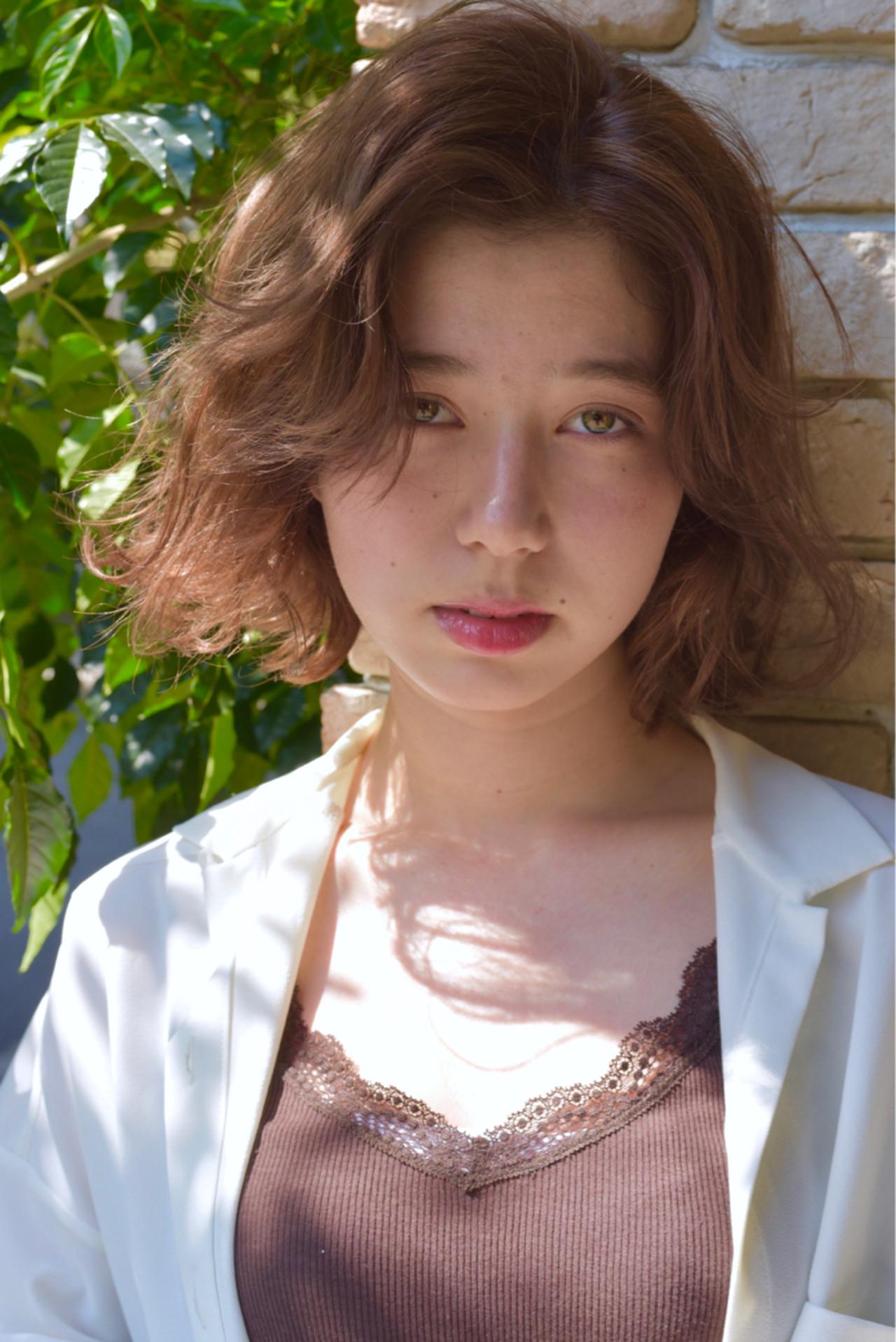 色気 女子会 アウトドア ボブ ヘアスタイルや髪型の写真・画像 | 小島翔一郎 / depart表参道