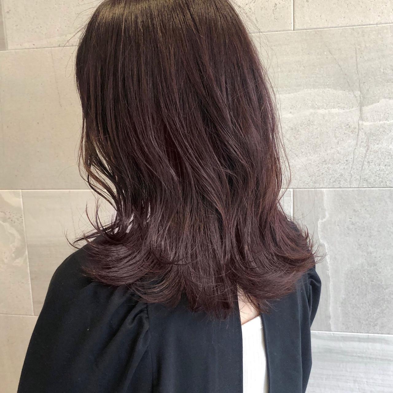 ナチュラル アンニュイ ピンク ピンクベージュ ヘアスタイルや髪型の写真・画像