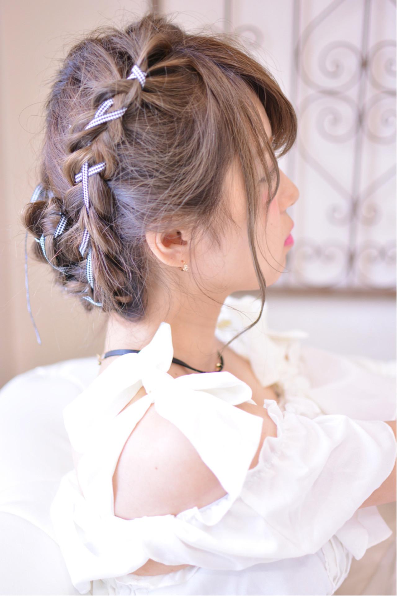デート ヘアアレンジ 透明感 ロング ヘアスタイルや髪型の写真・画像 | Shiko Kajihara / メイズ