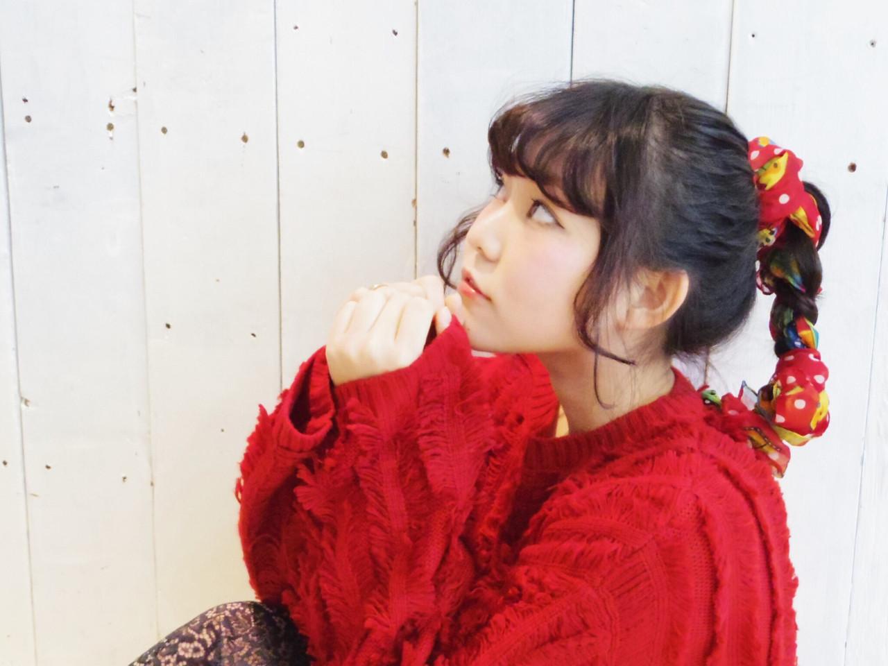 ヘアアクセ ポニーテール ヘアアレンジ 簡単ヘアアレンジ ヘアスタイルや髪型の写真・画像 | Namika Kitamura /