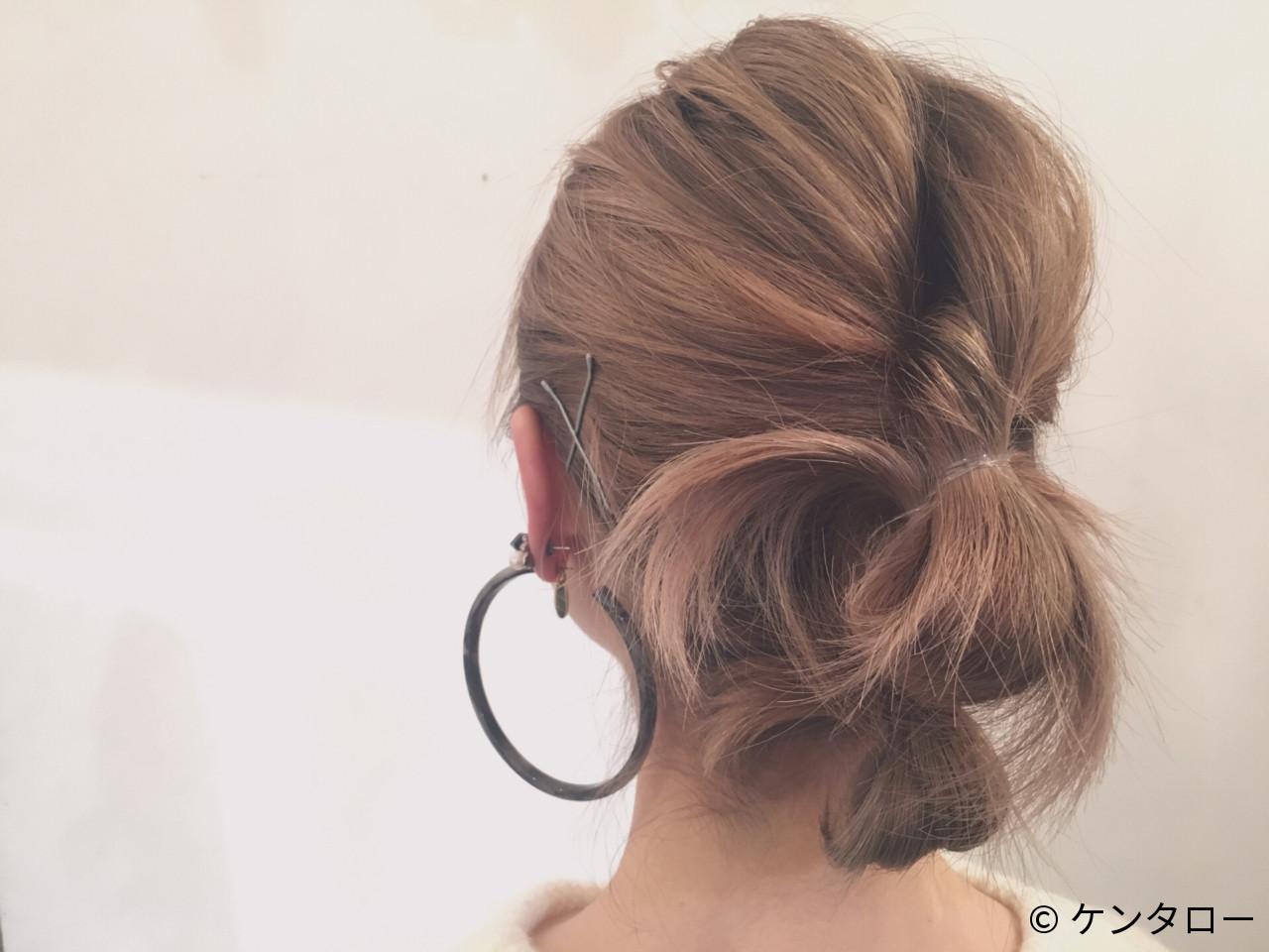 簡単ヘアアレンジ アッシュ ヘアアレンジ ハイトーン ヘアスタイルや髪型の写真・画像   ケンタロー / Nicole.