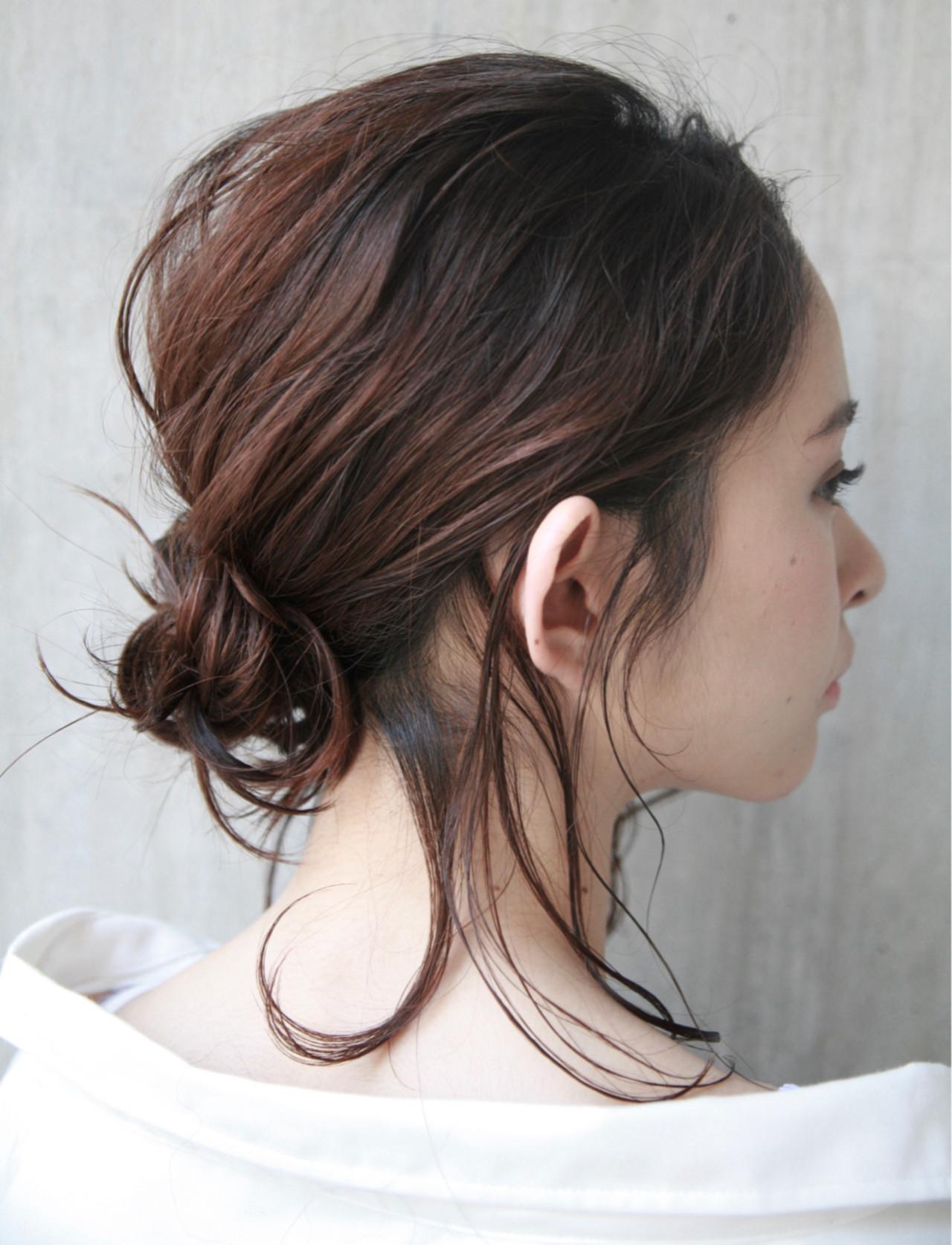 ナチュラル 簡単ヘアアレンジ 夏 ヘアアレンジ ヘアスタイルや髪型の写真・画像   平本 聖 / フリーランス