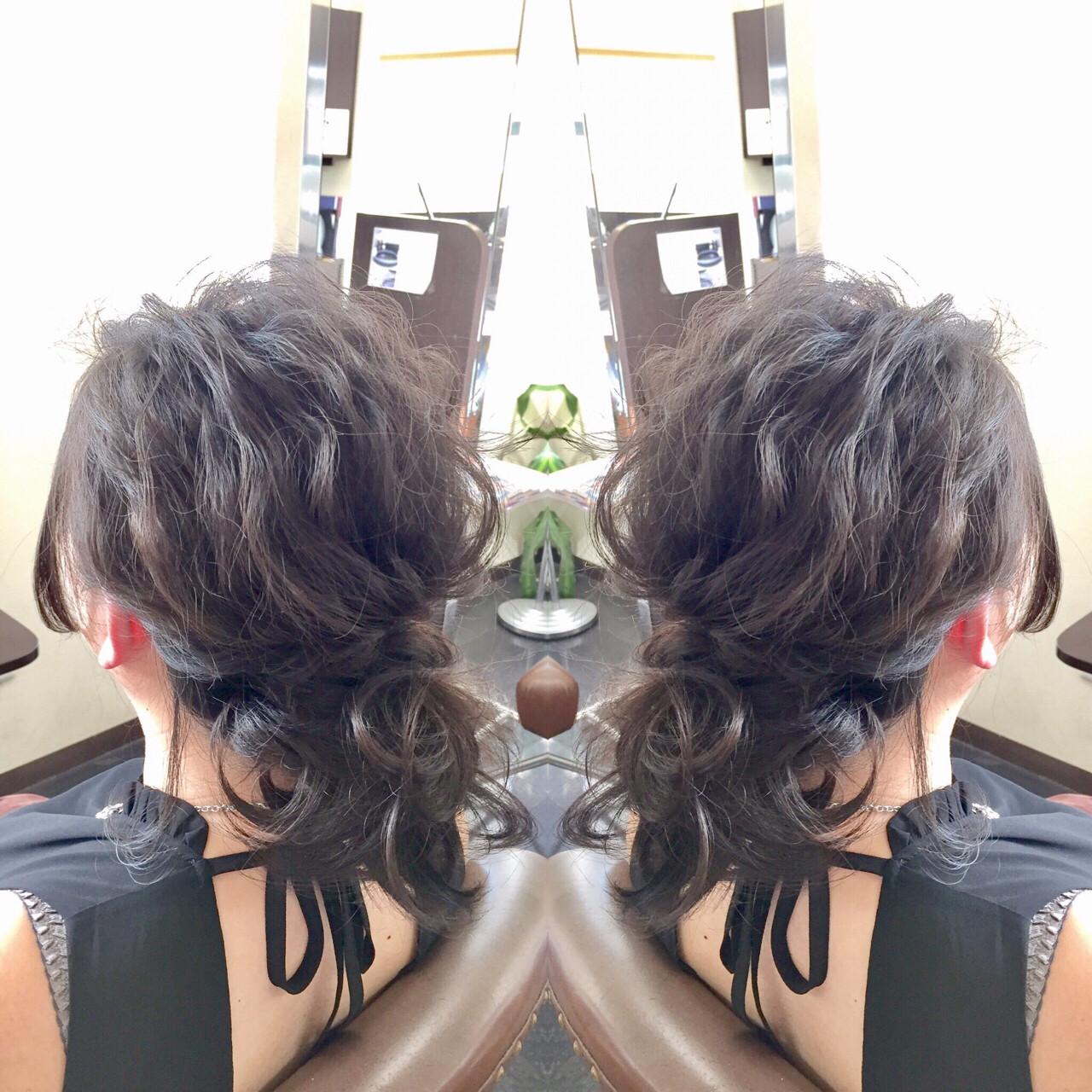 ヘアアレンジ エレガント 上品 アンニュイヘアスタイルや髪型の写真・画像