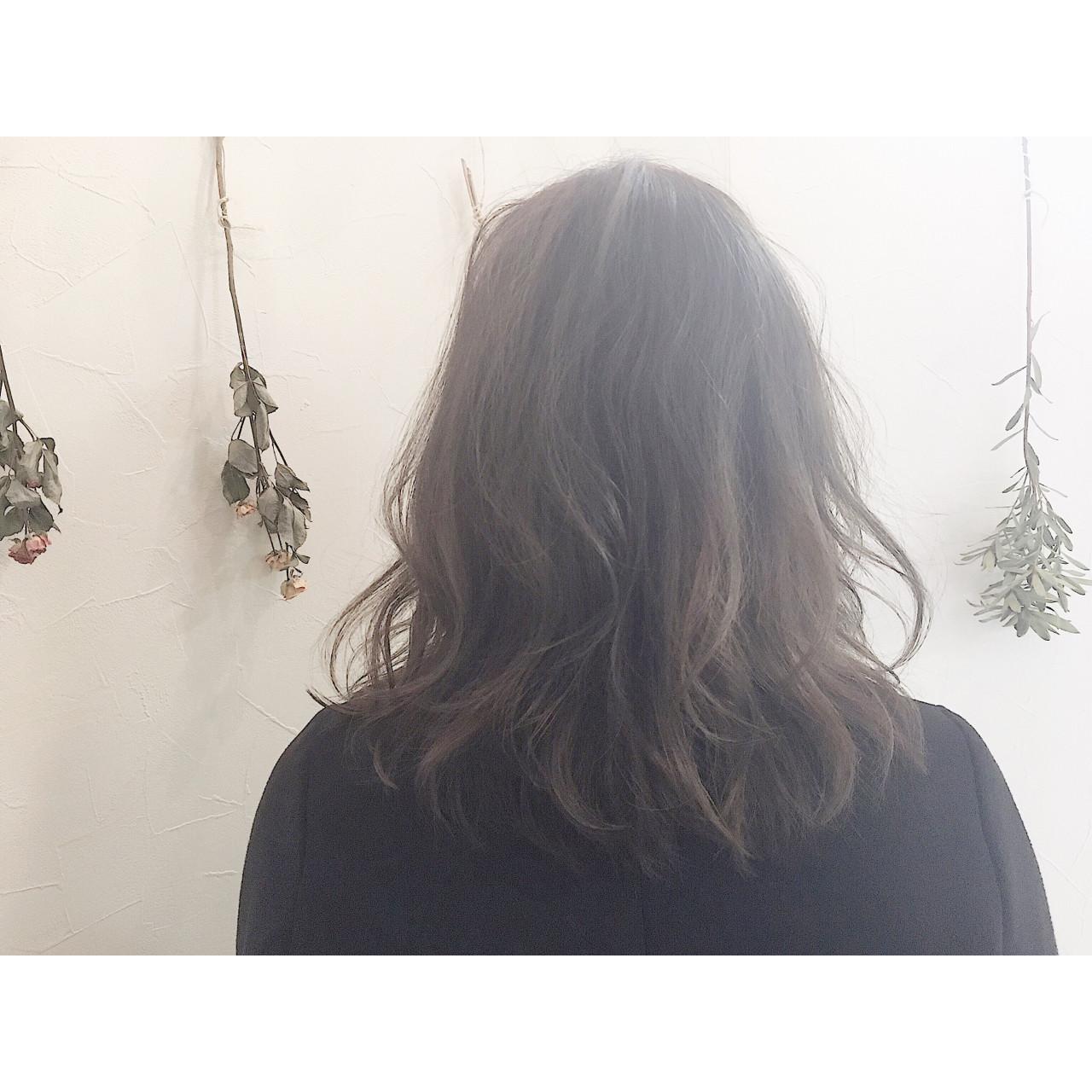 おフェロ セミロング ハイライト ナチュラル ヘアスタイルや髪型の写真・画像 | 廣長 毅 / Lull/ vampdiva