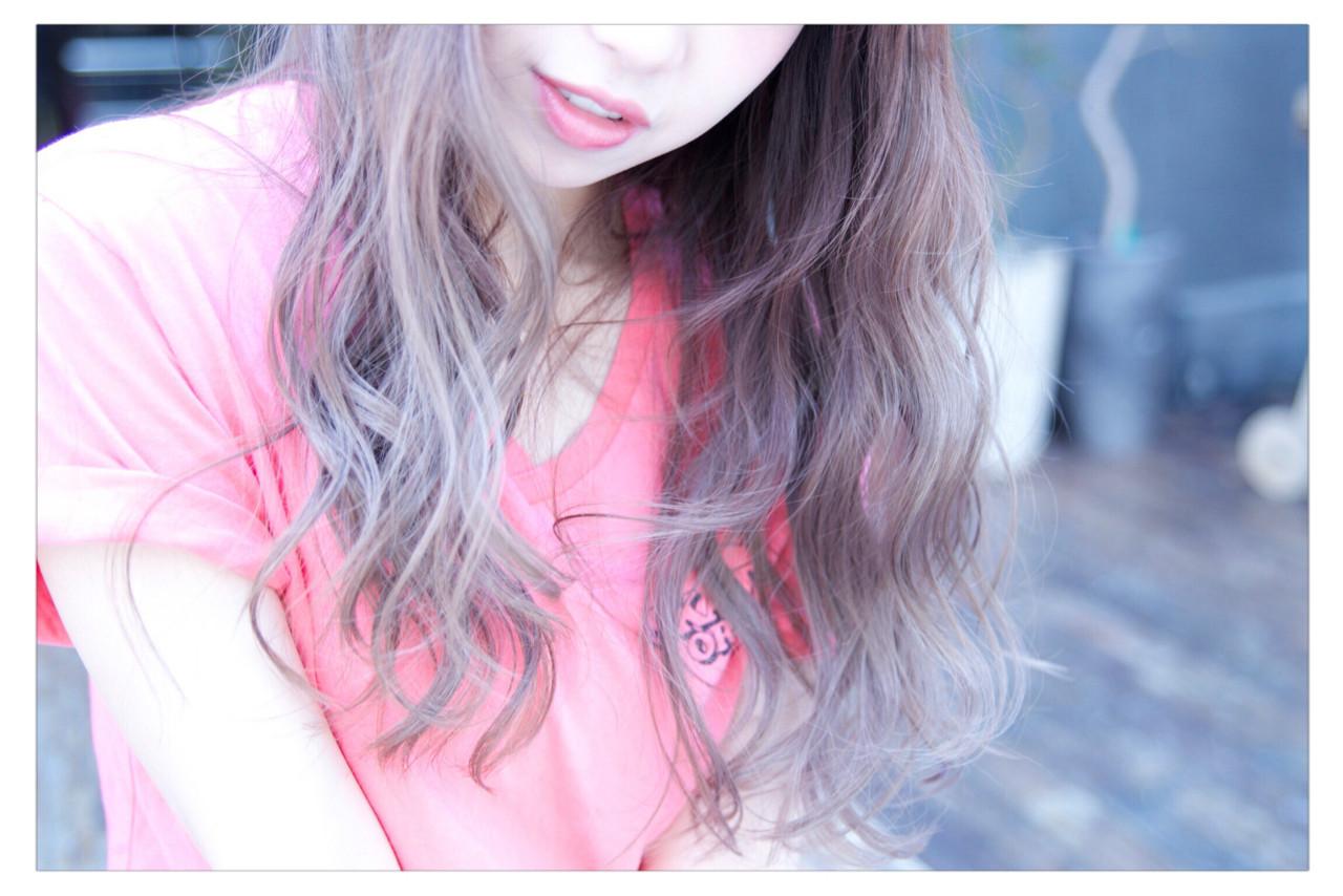 ロング 外国人風 ヘアアレンジ アッシュ ヘアスタイルや髪型の写真・画像 | 小野 圭介 / Salon de SADAM / Salon de SADAM (サロン ド サダム)