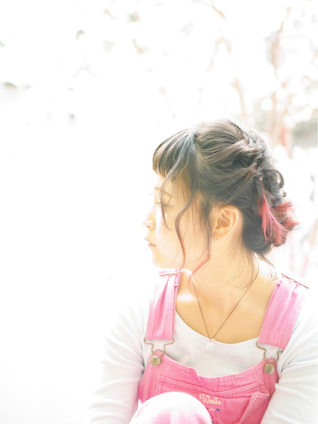 レッド ピンク ゆるふわ フェミニン ヘアスタイルや髪型の写真・画像 | カラーリスト・YuuKi Sekimoto / wherever