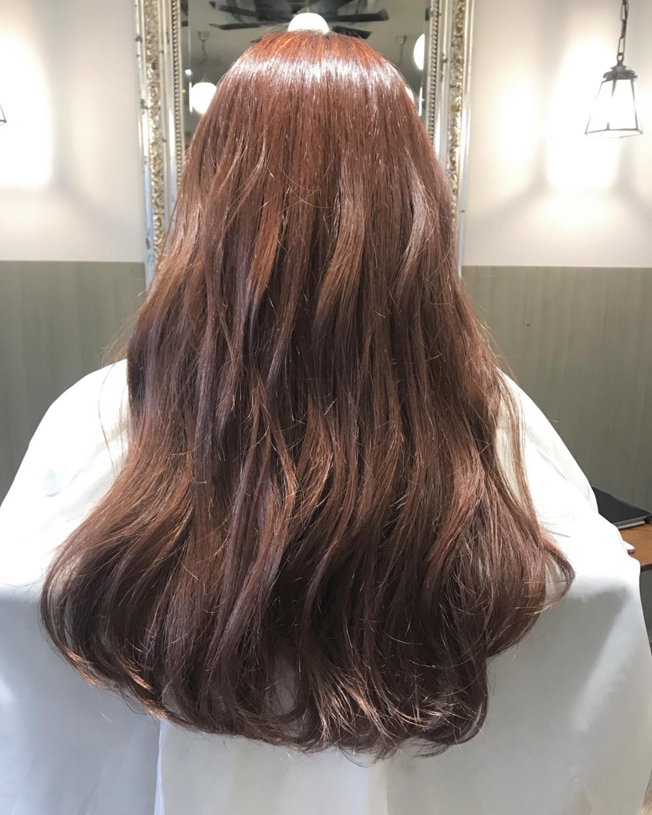 外国人風カラー 簡単ヘアアレンジ カール ピンクヘアスタイルや髪型の写真・画像