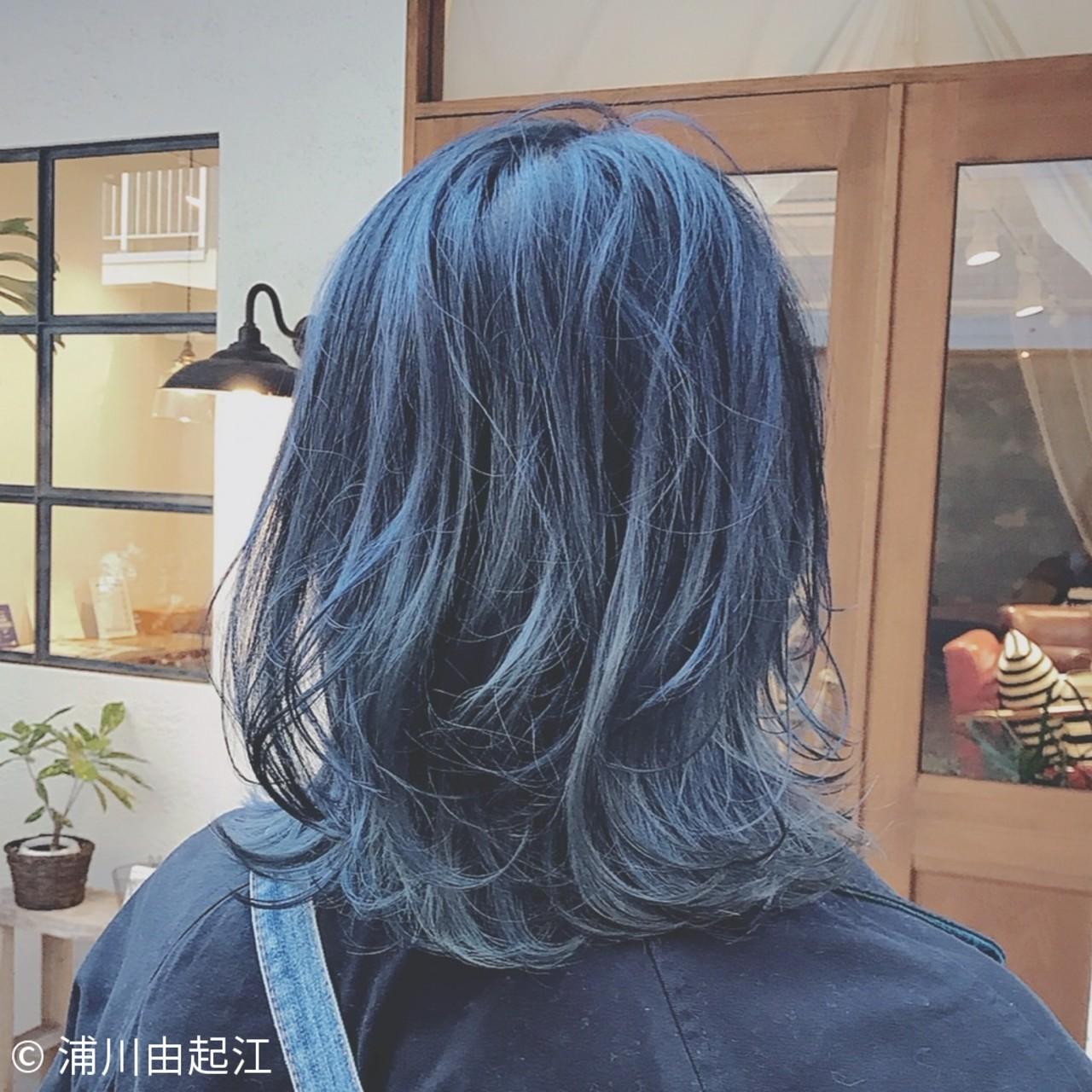 デート 大人かわいい インナーカラー ゆるふわ ヘアスタイルや髪型の写真・画像 | 浦川由起江 / nanon