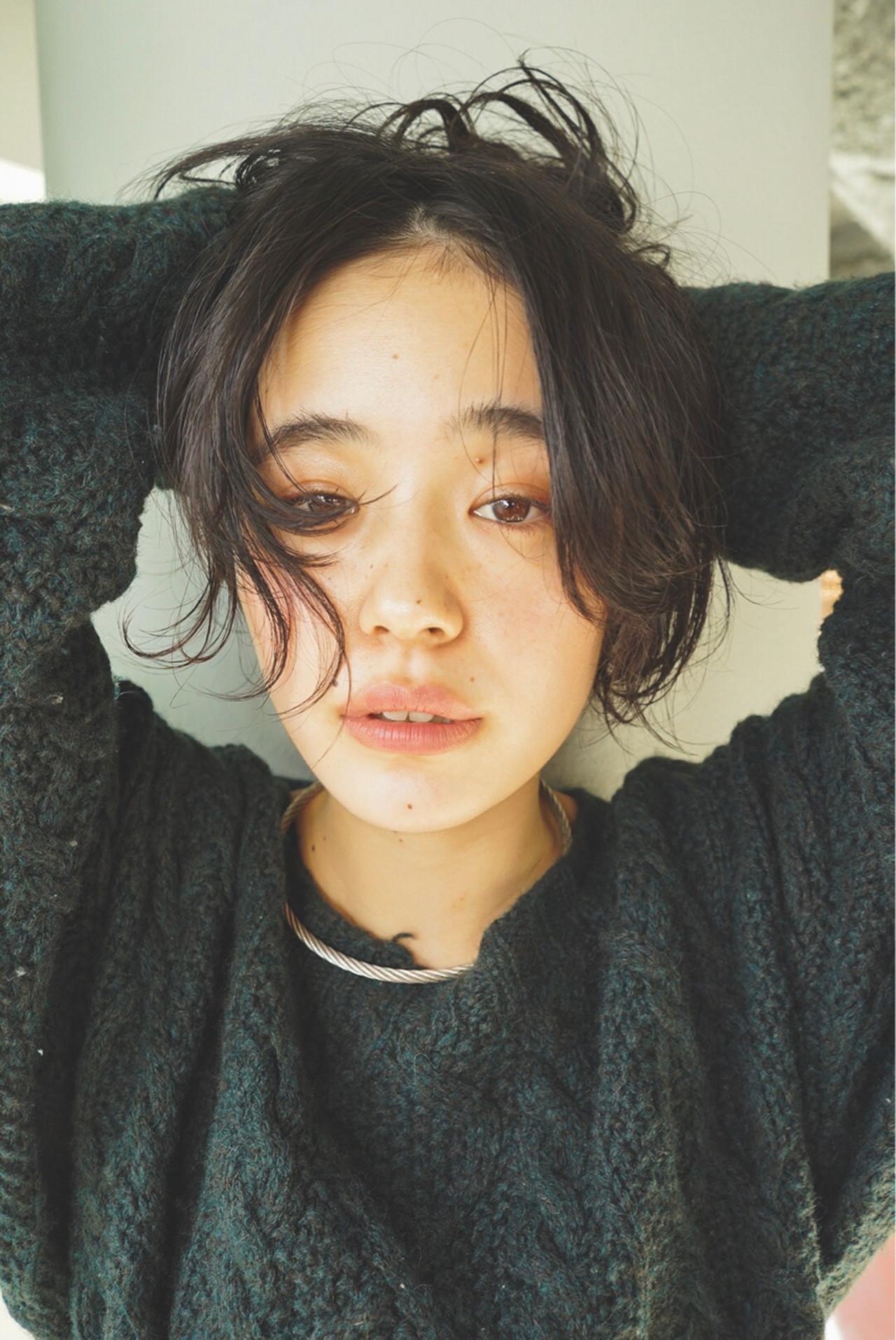 似合わせ パーマ ショート マッシュ ヘアスタイルや髪型の写真・画像 | 佐野 正人 / nanuk / nanuk
