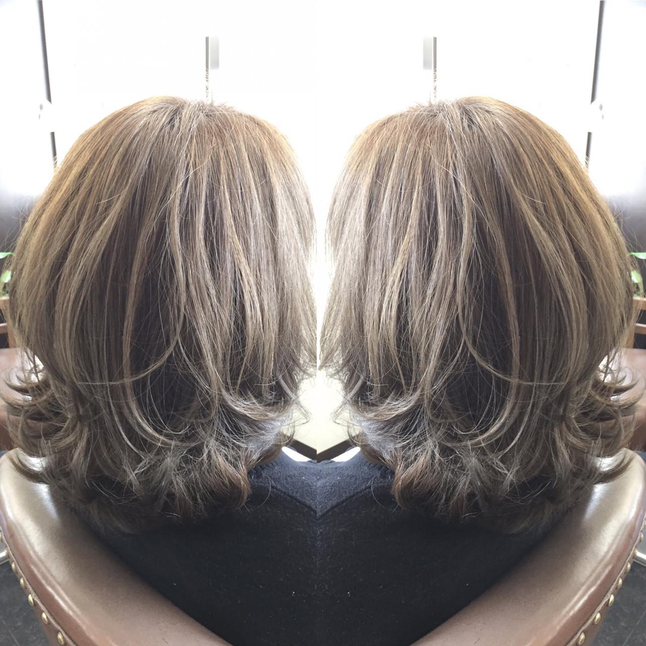 かわいい 外国人風 ボブ ミディアム ヘアスタイルや髪型の写真・画像 | 佐藤 允美 / Hair Space  ACT  LOCALLY(アクトローカリー)