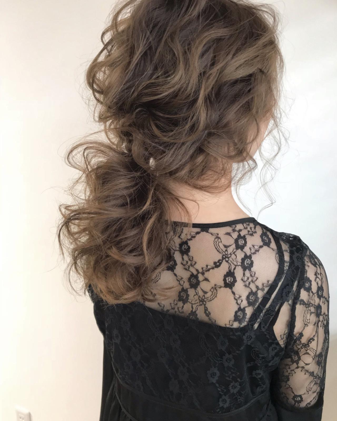 外国人風カラー ウェーブ エレガント ヘアアレンジ ヘアスタイルや髪型の写真・画像 | SHOTA / cherir