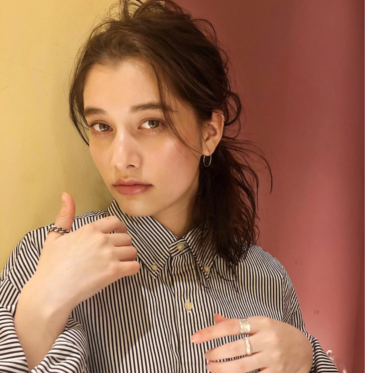ナチュラル ミディアム デート 簡単ヘアアレンジ ヘアスタイルや髪型の写真・画像   大沼圭吾 / GARDEN harajuku