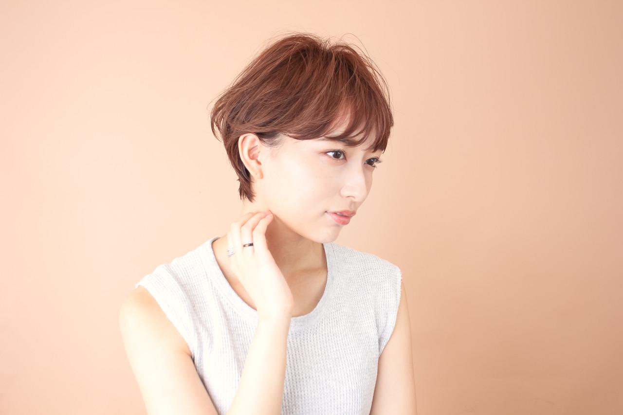 ショートボブ モテ髪 前髪あり ショート ヘアスタイルや髪型の写真・画像 | 榎本洋介 / BEAUTRIUM omotesando