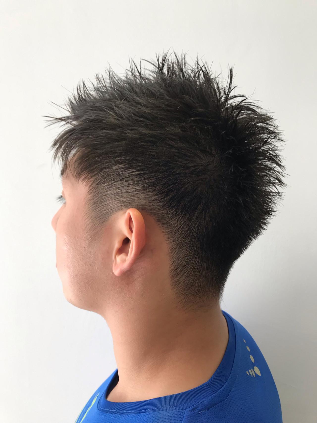 毛束感 メンズショート メンズカット ナチュラル ヘアスタイルや髪型の写真・画像 | Mino Takahiro / Agu hair cardinal 片町店