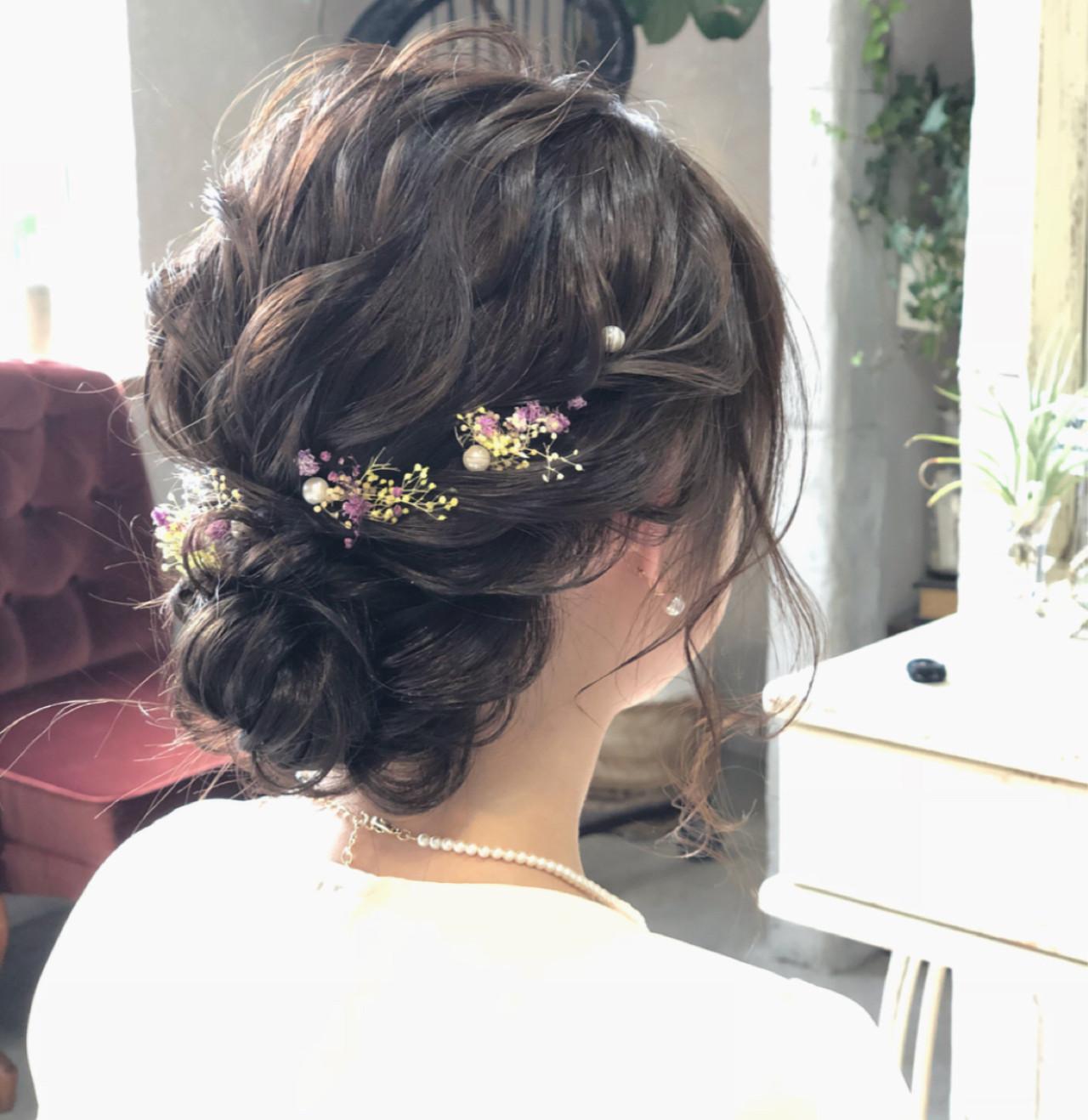 結婚式 ナチュラル シニヨン 成人式 ヘアスタイルや髪型の写真・画像   hii.de@✂︎ / Maison de sisi