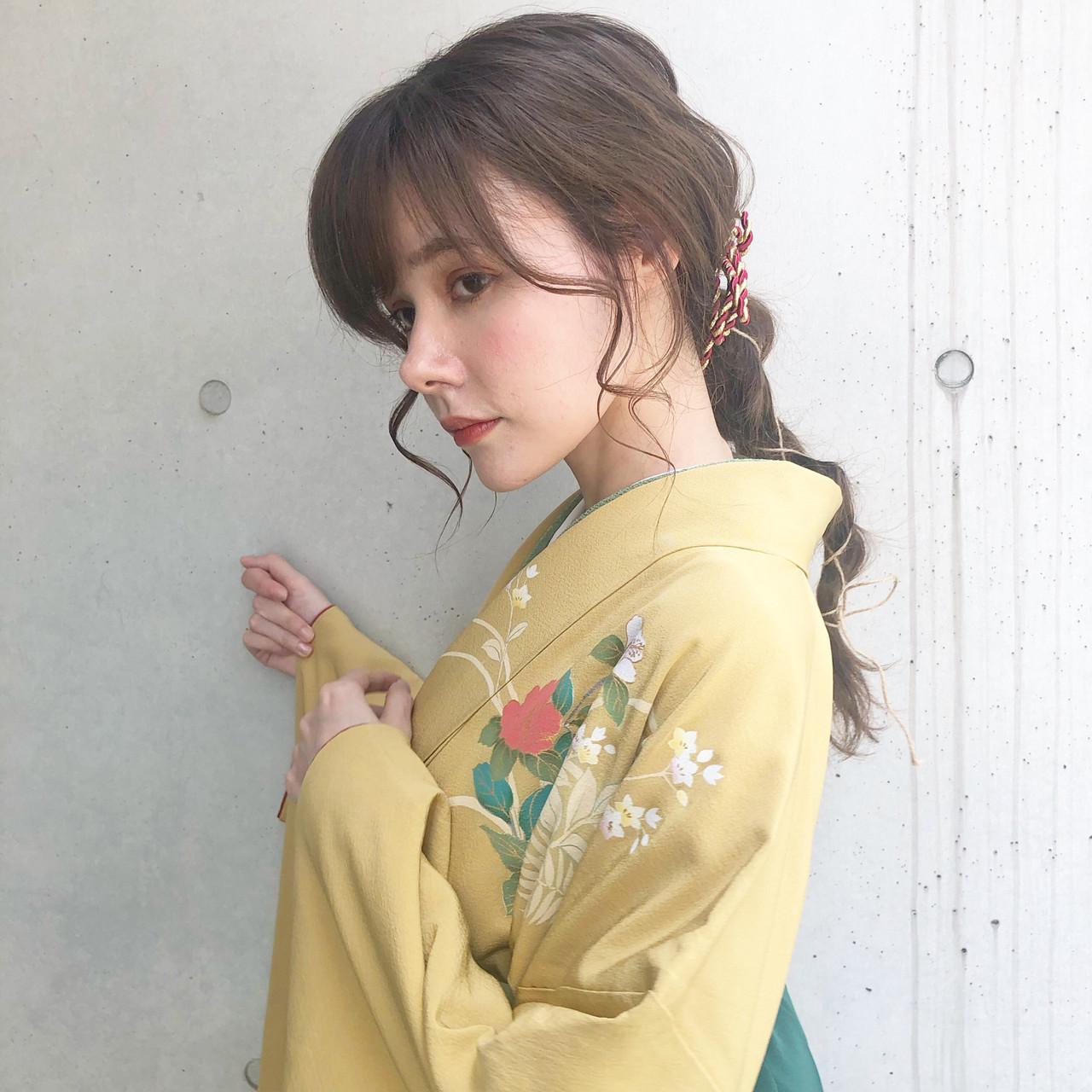 アンニュイ アンニュイほつれヘア ナチュラル ロング ヘアスタイルや髪型の写真・画像 | Shiori Saito / tornado
